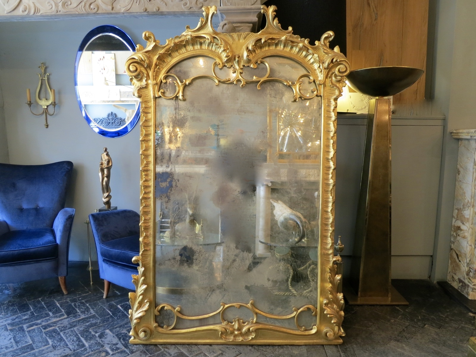 Large Neo Baroque Mirror For Sale At Pamono Pertaining To Baroque Mirror Large (View 7 of 15)