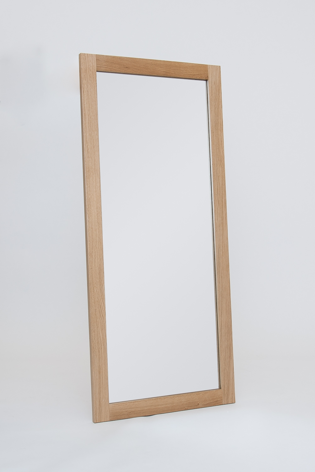 Large Oak Mirror Hereford Oak Oak Furniture Solutions Intended For Large Oak Mirror (View 3 of 15)