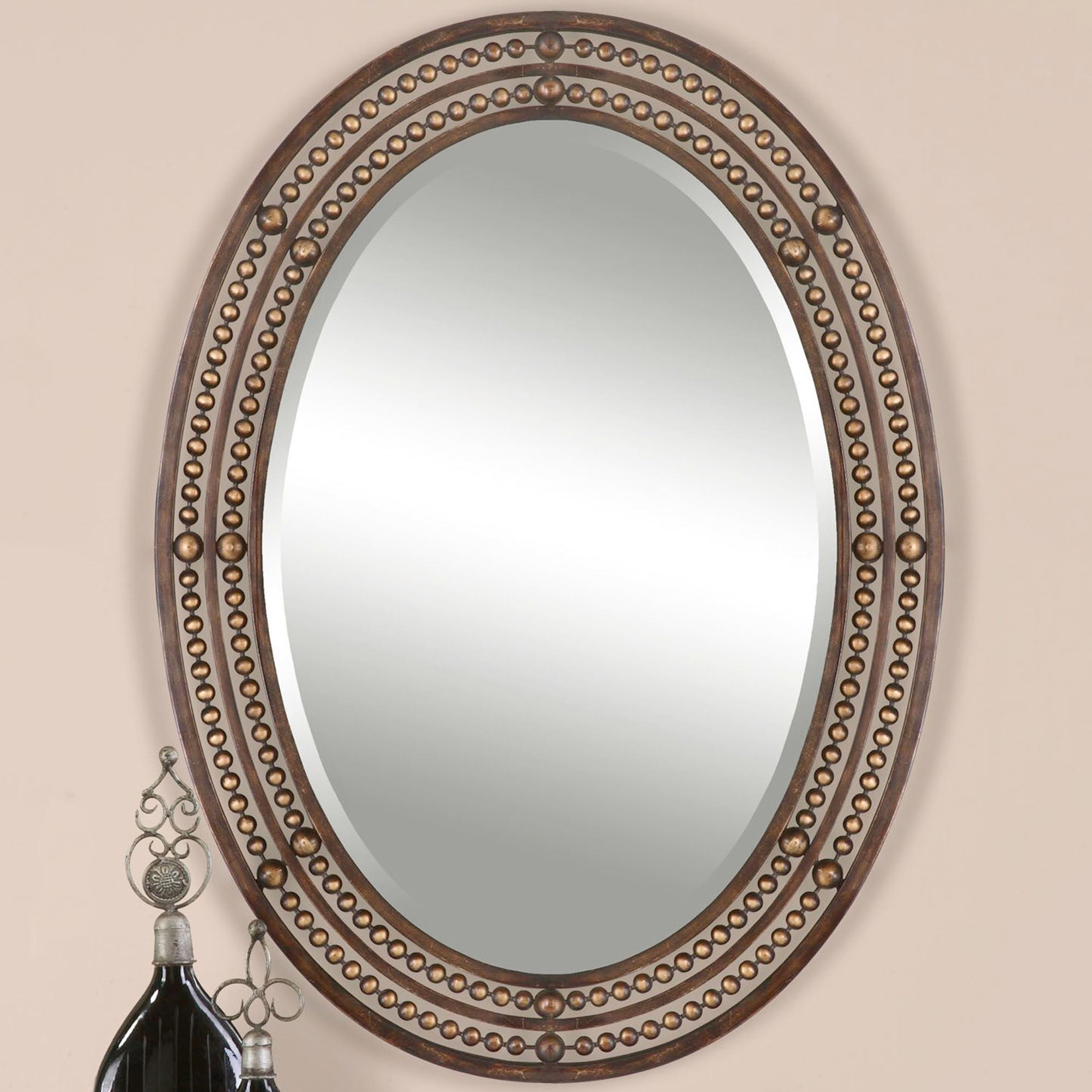 Large Oval Wall Mirrors Courtagerivegauche Regarding Large Oval Wall Mirror (Image 11 of 14)