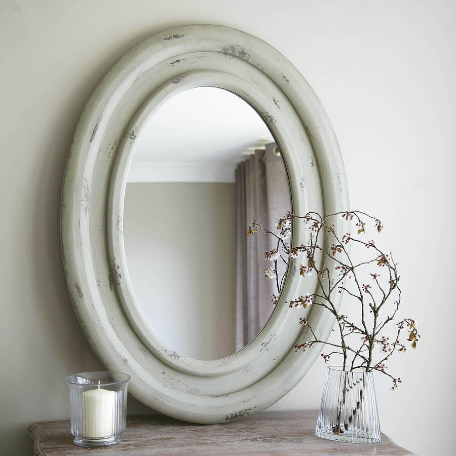 Large Oval Wooden Mirror Primrose Plum Notonthehighstreet Throughout Large Oval Mirrors (View 3 of 15)