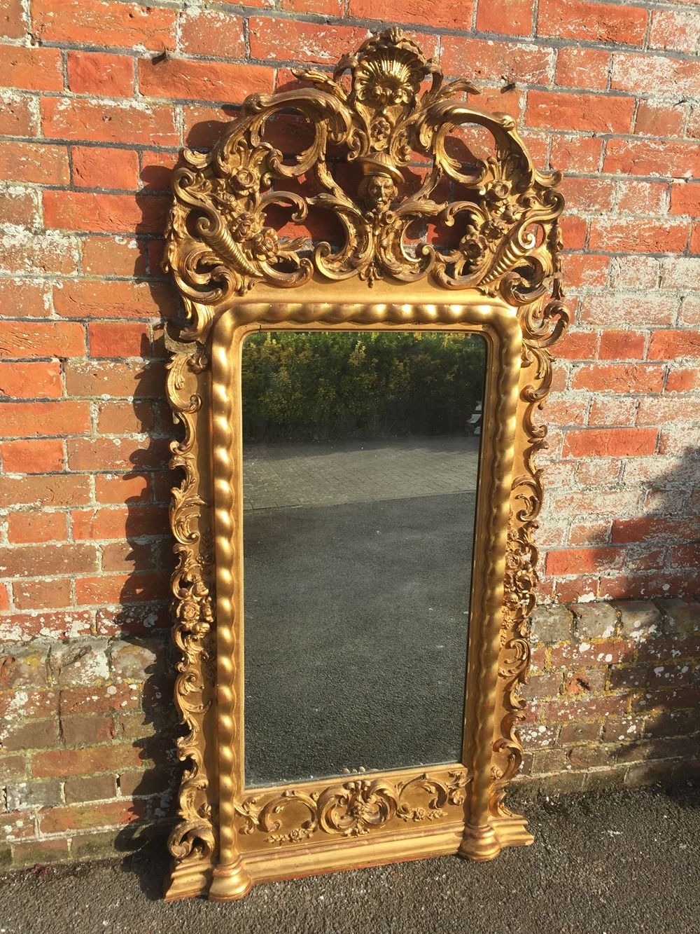 Large Overmantle Mirrors Uk Antique Overmantle Mirrors For Sale Intended For Large French Mirrors (Image 13 of 15)