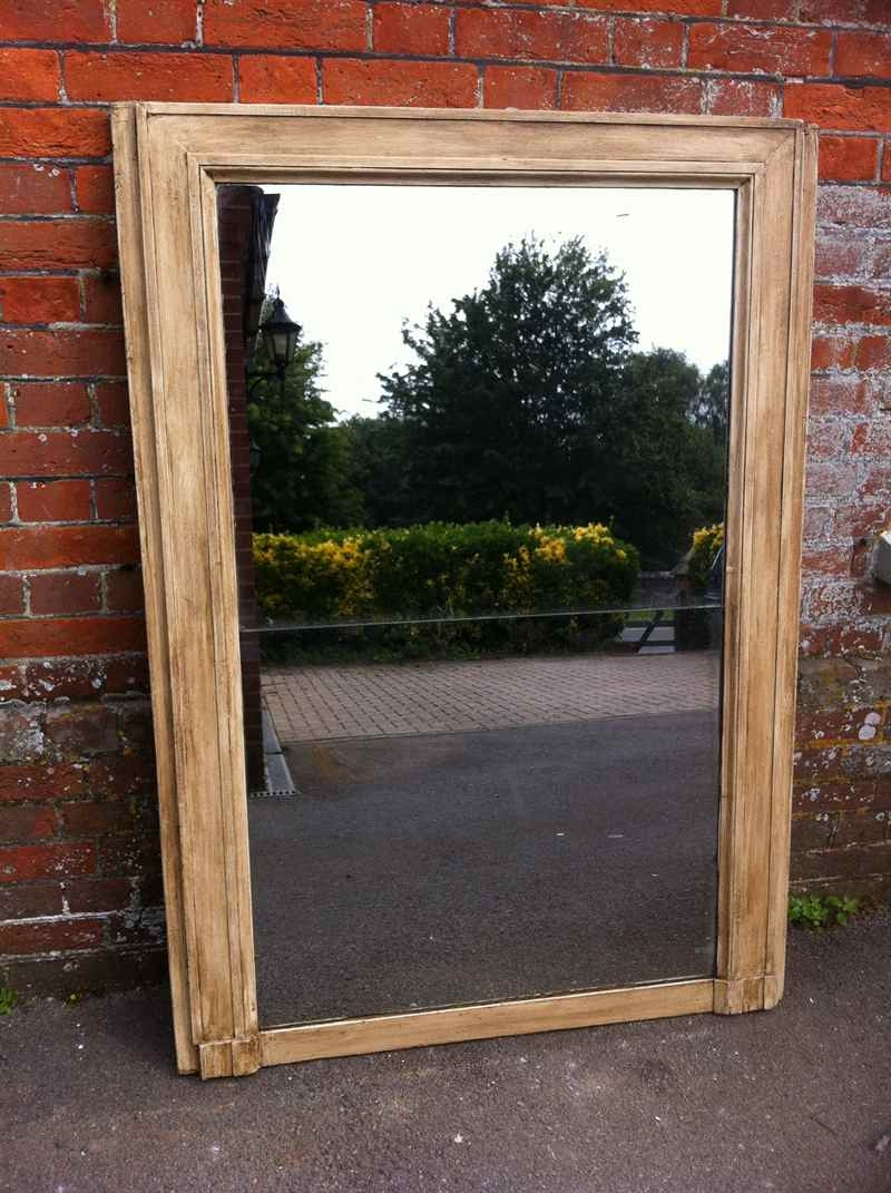 Large Painted Early Antique French Mirror Antique All Our With Regard To Antiqued Mirrors For Sale (Image 14 of 15)