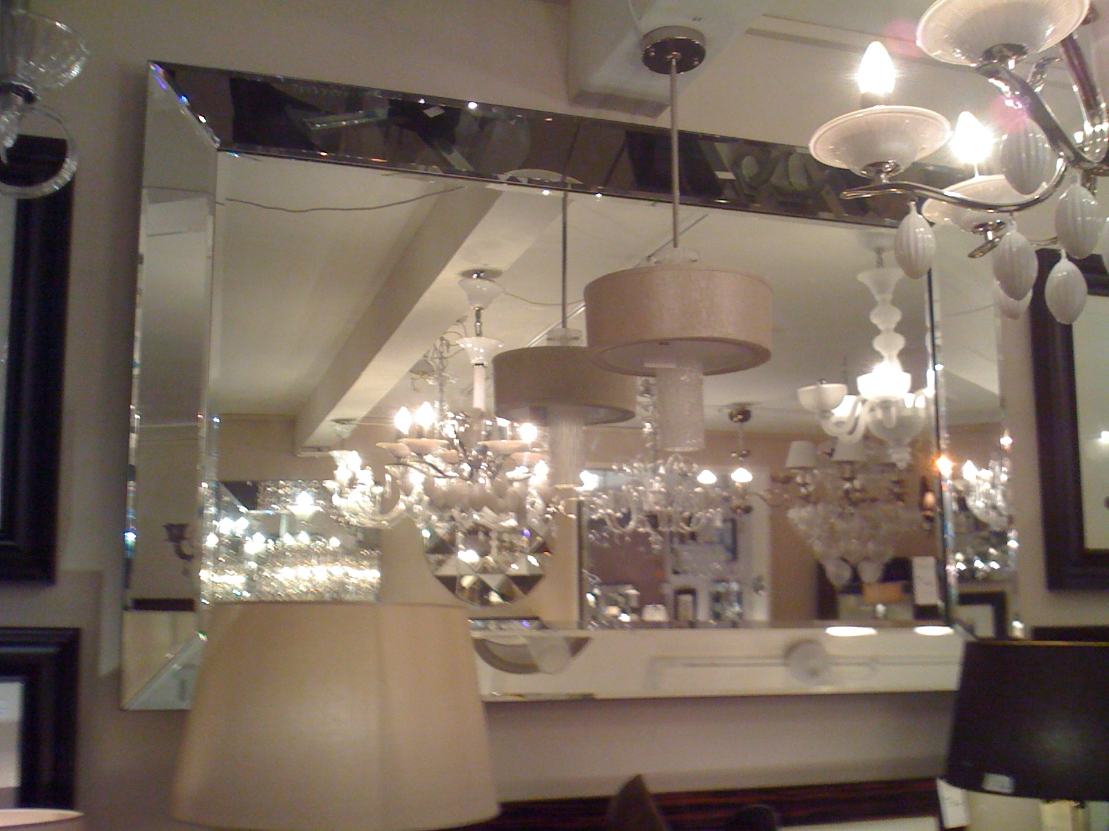 Large Quattro Venetian Glass Bevelled Mirror 205cm X 140cm Inside Large Venetian Mirror (Image 5 of 15)