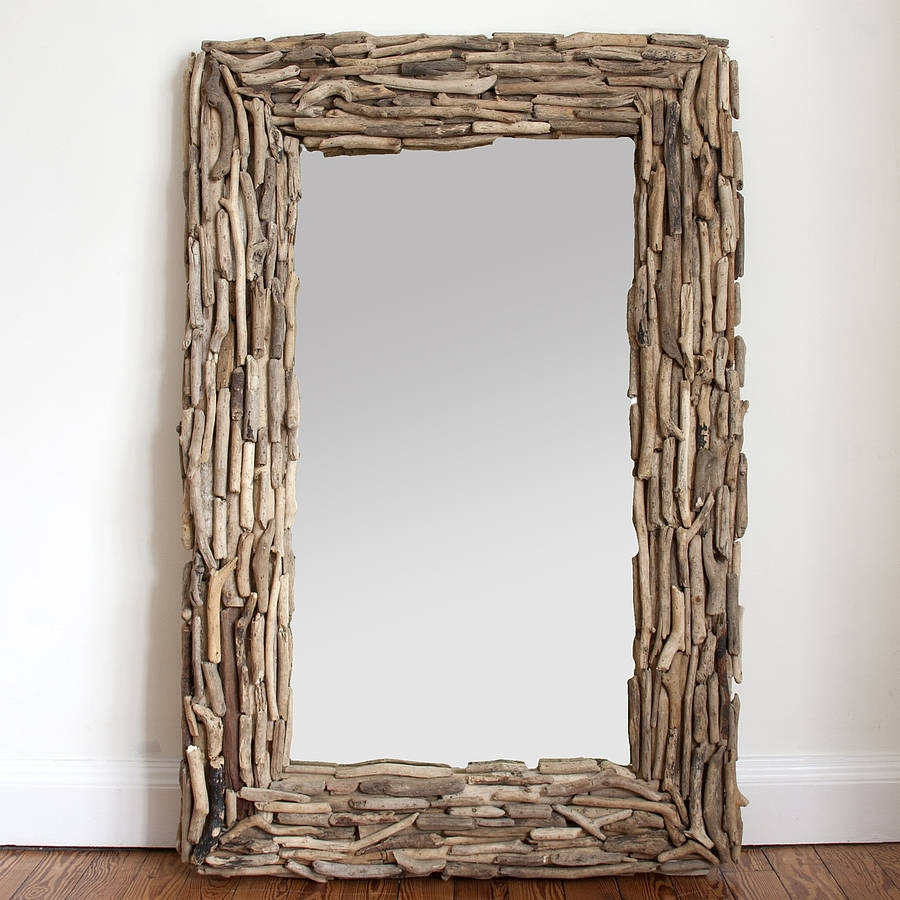 Large Rectangular Driftwood Mirror Decorative Mirrors Online Intended For Large Mirrors Online (Image 12 of 15)