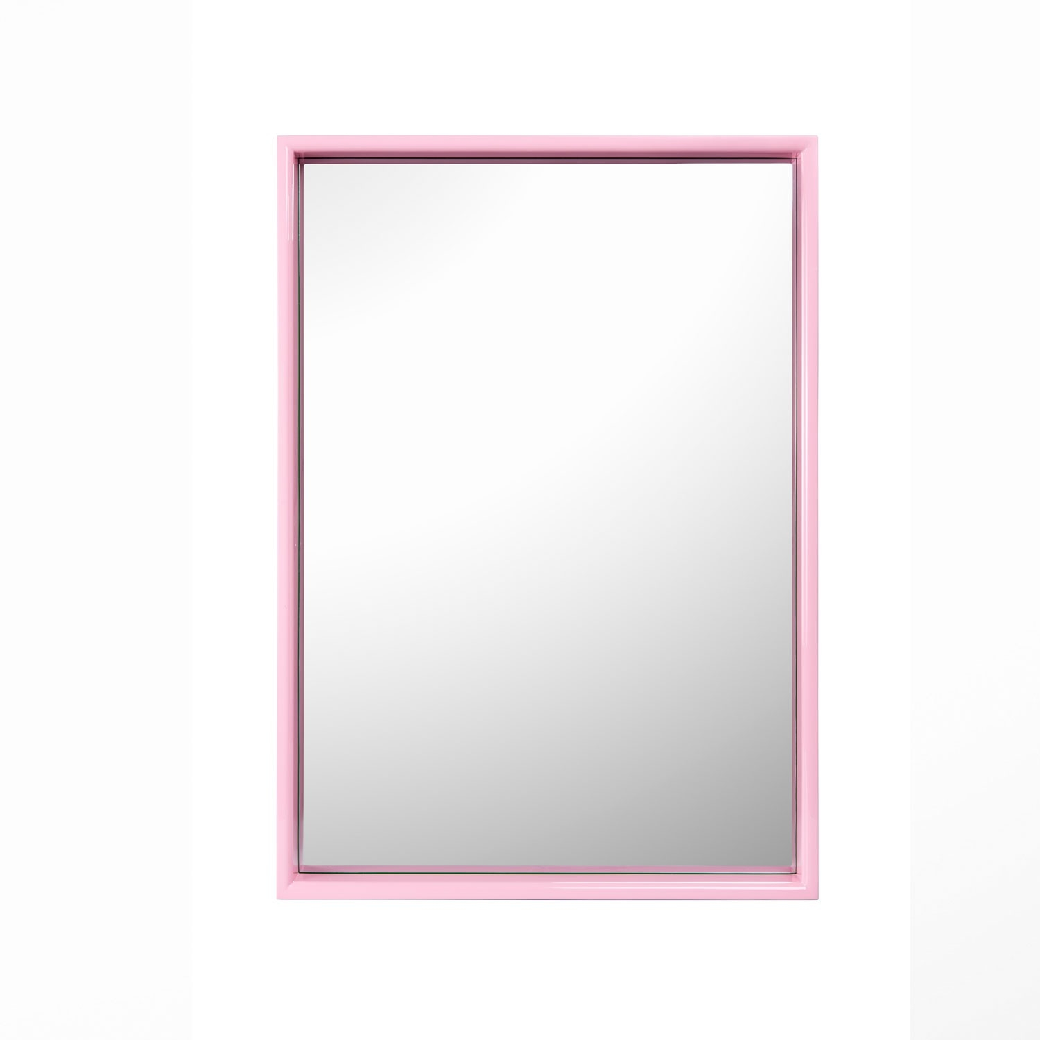 Large Rectangular Mirror Kelly Green Pink With Regard To Large Pink Mirror (Image 6 of 15)