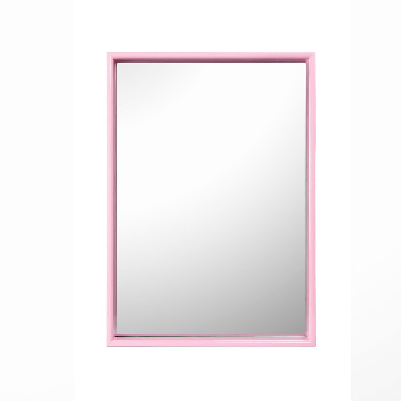 Large Rectangular Mirror Kelly Green Pink With Regard To Large Pink Mirror (View 4 of 15)