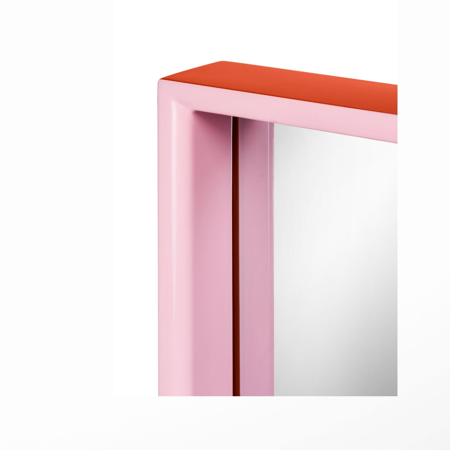 Large Rectangular Mirror Orange Pink With Regard To Large Pink Mirror (Image 7 of 15)