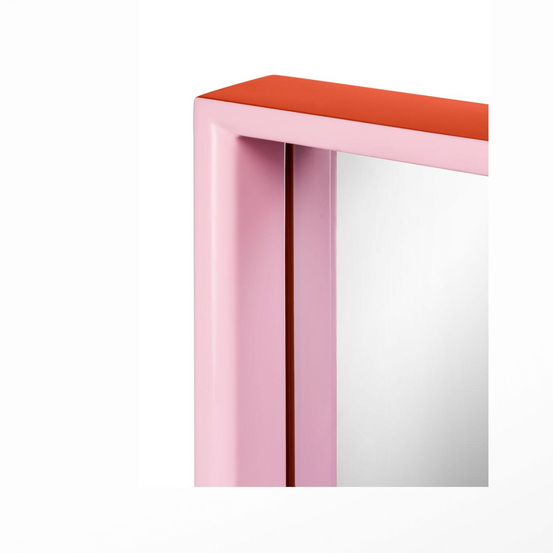 Large Rectangular Mirror Orange Pink With Regard To Large Pink Mirror (View 8 of 15)