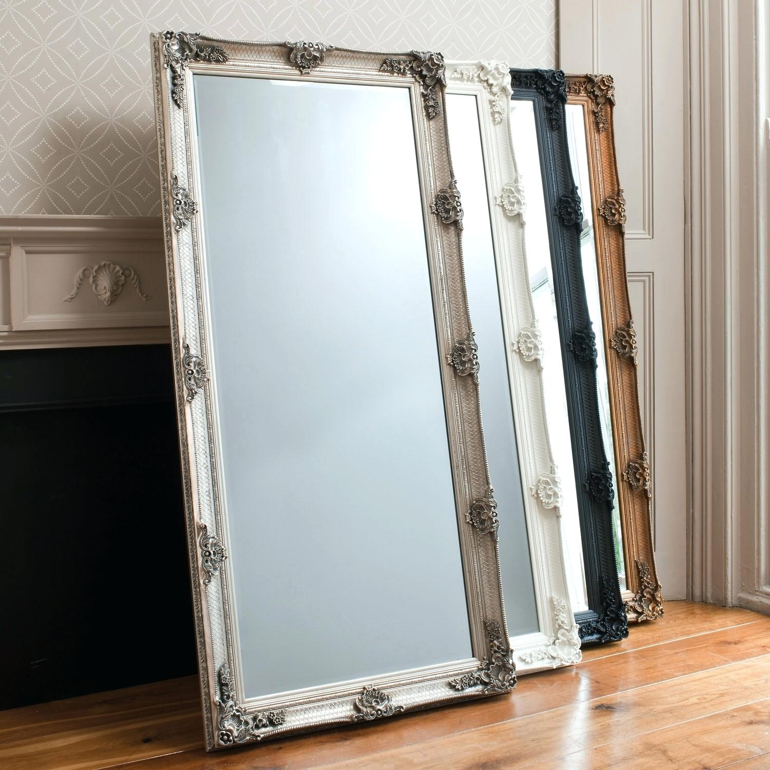Large Round Mirror For Centerpieces About Standing Jewelry Armoire Regarding Mirror On Stand For Dressing Table (Image 9 of 15)
