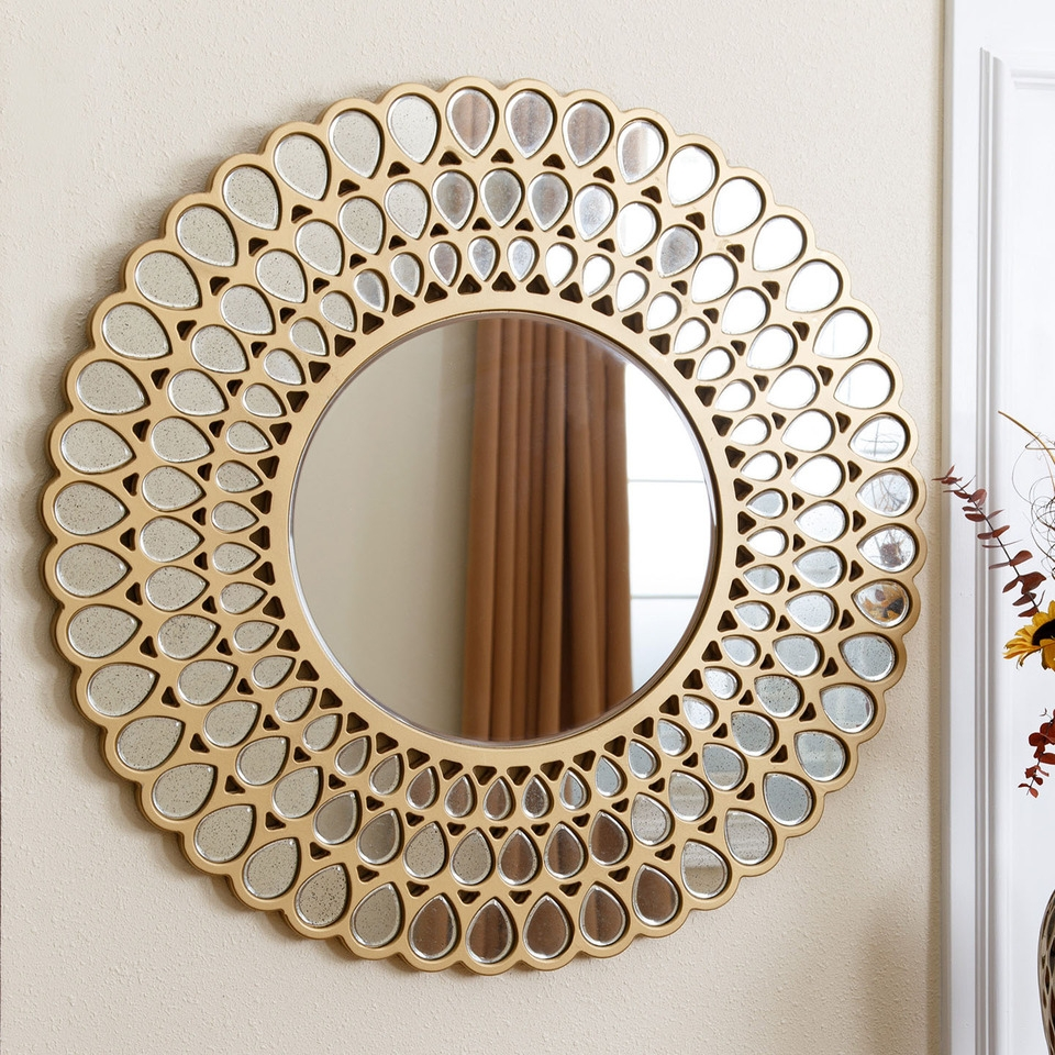 Large Round Wall Mirror Tonyswadenalocker Pertaining To Clarendon Mirror (Image 9 of 15)
