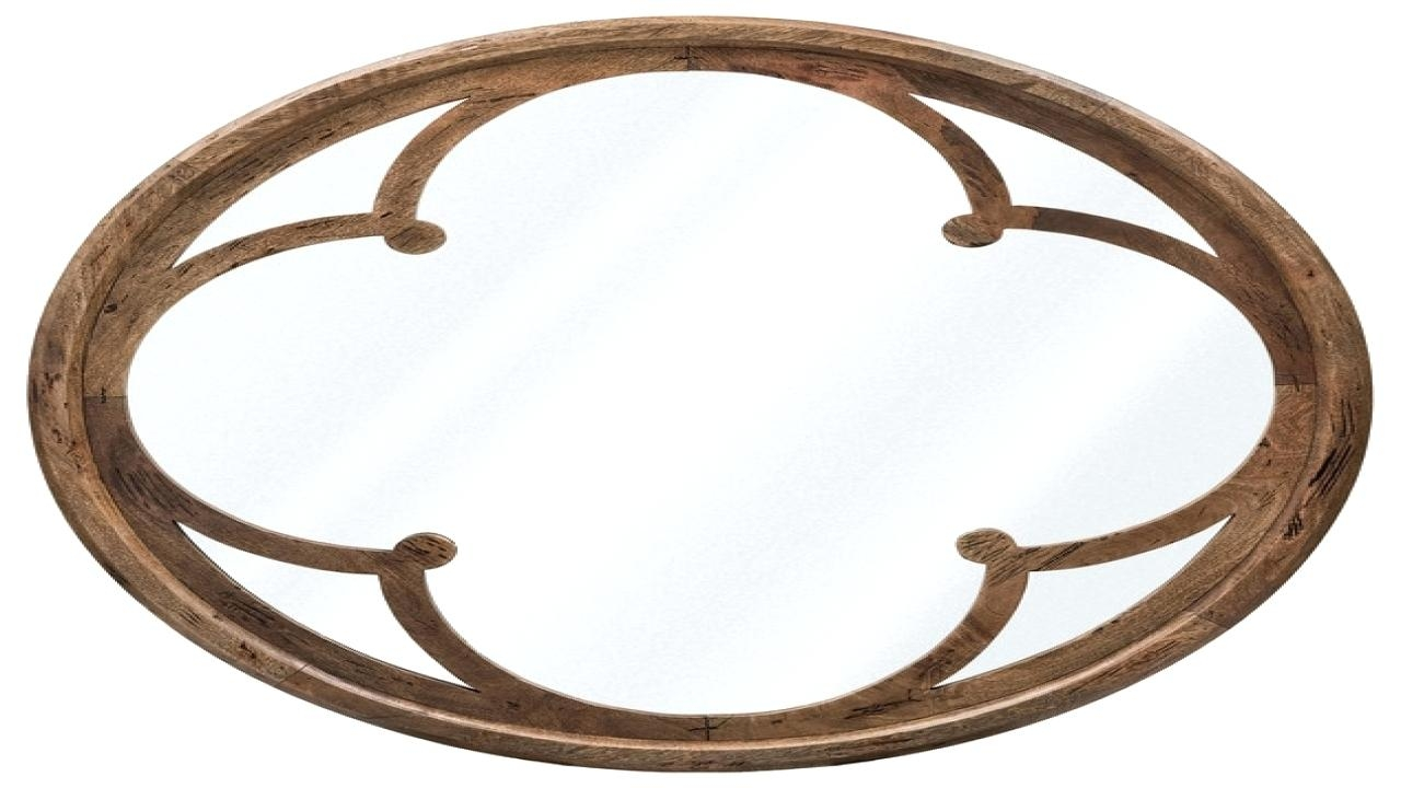 Large Round Wood Mirror Pitchloveco Pertaining To Large Round Wooden Mirror (Image 5 of 15)