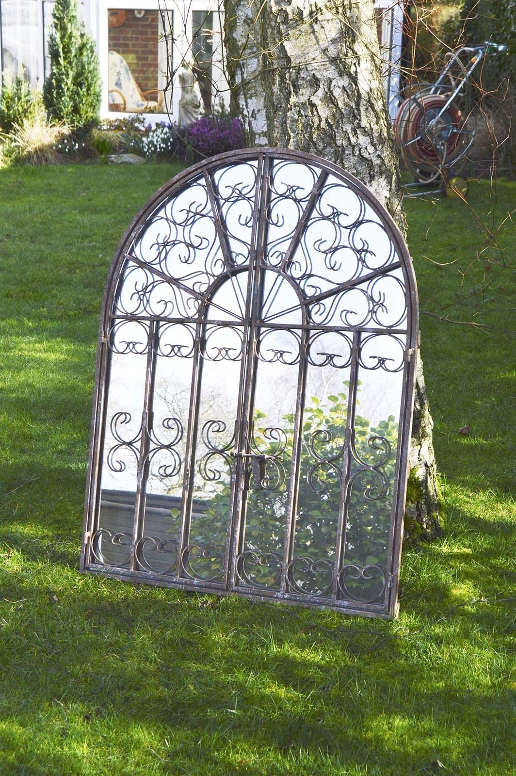 Large Scroll Outdoor Garden Ornate Shab Chic Big Wall Mirror Throughout Outside Garden Mirrors (View 13 of 14)