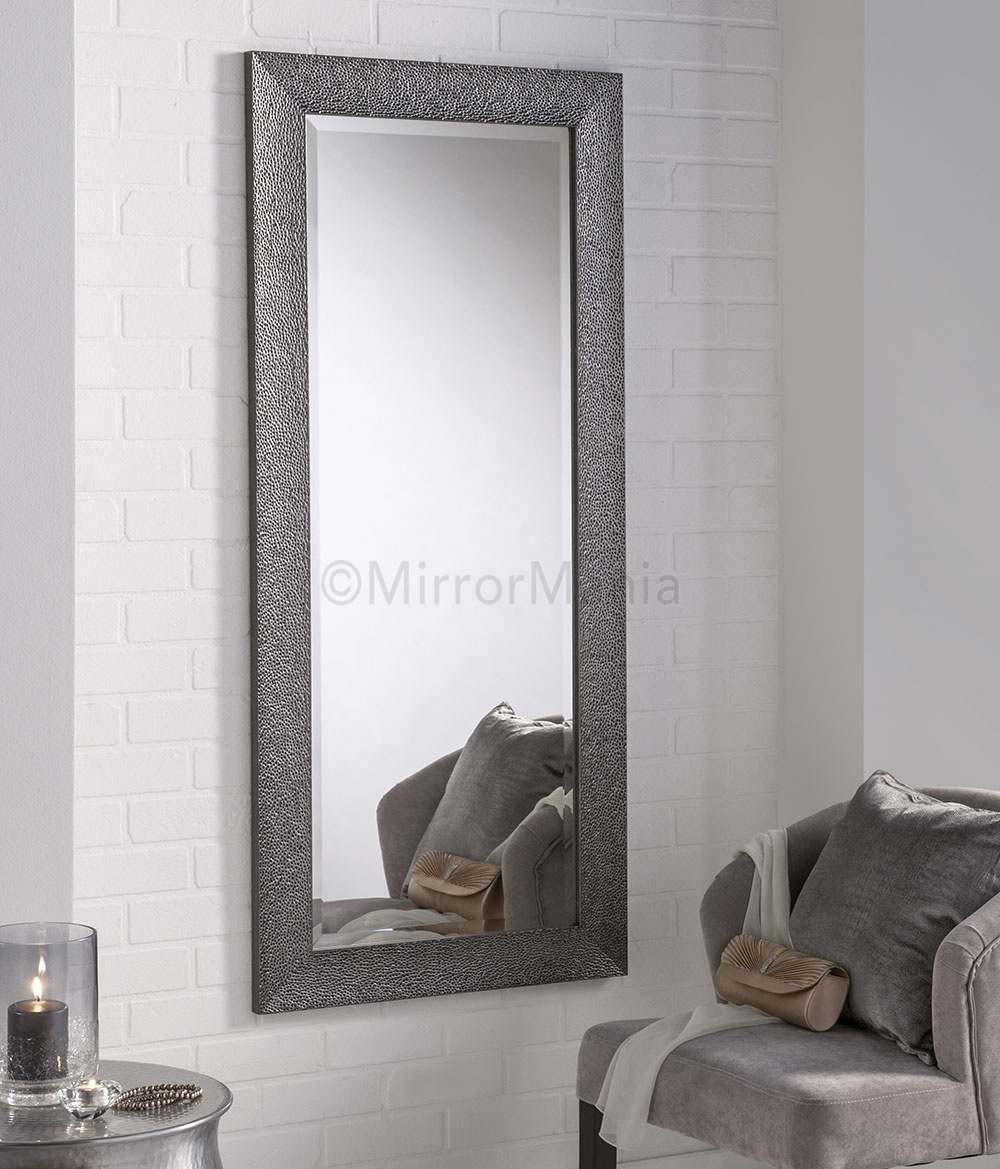 15 best ideas funky wall mirrors mirror ideas for Silver framed bathroom mirrors