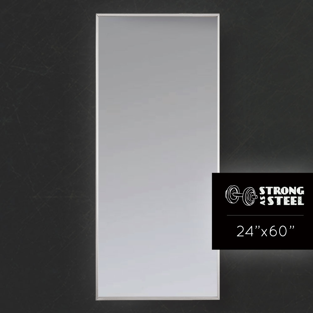 Large Slimming Metal Fitting Room Mirror The Skinny Mirror For White Metal Mirror (Image 6 of 15)