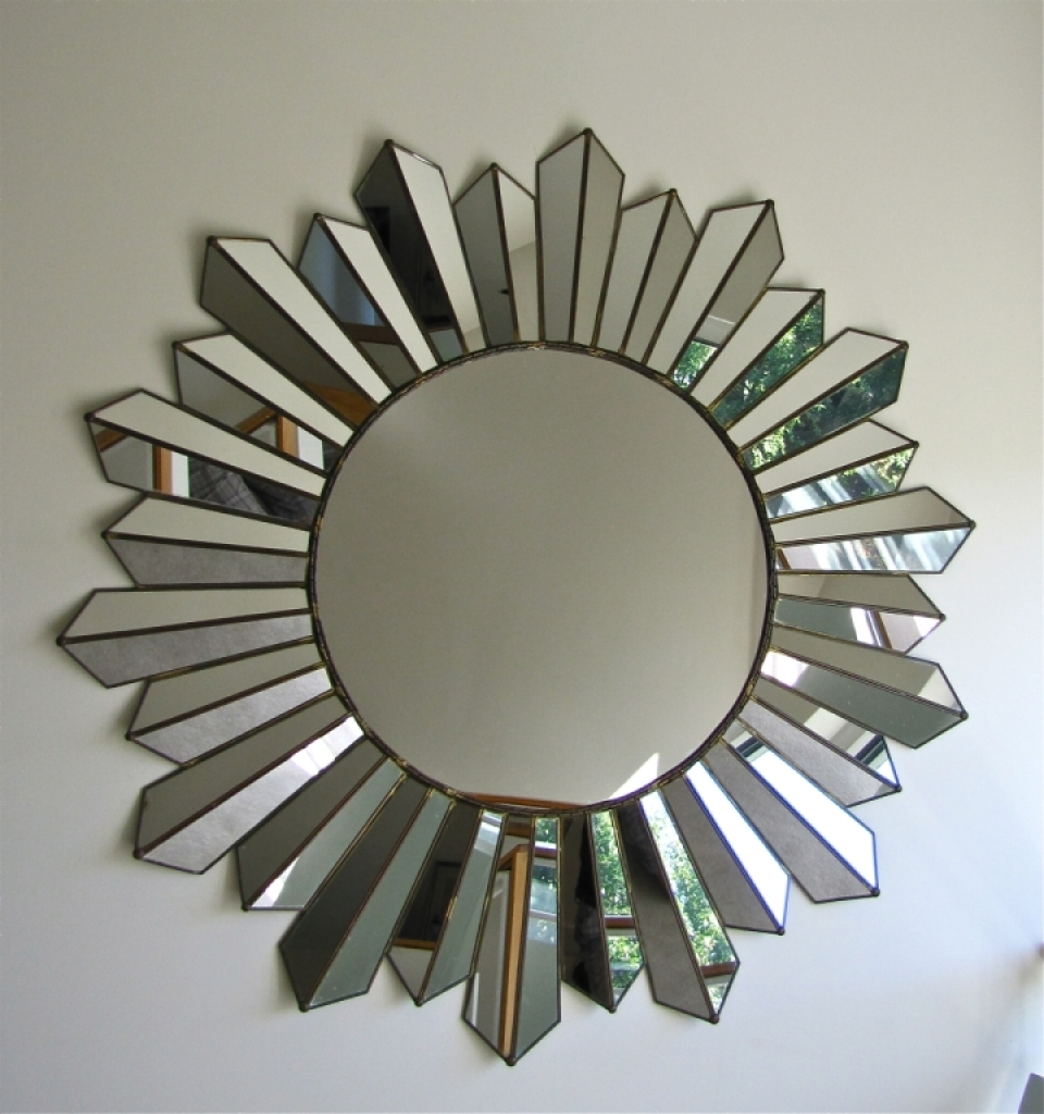 Large Soleil Sunburst Wall Mirror For Sale At 1stdibs Silver For Large Sunburst Mirrors For Sale (Image 5 of 15)