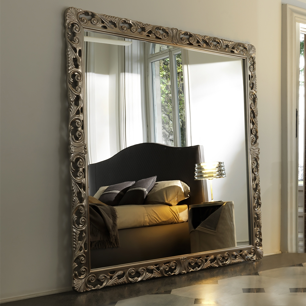 Large Square Italian Ornately Carved Mirror Juliettes Interiors With Large Square Mirror (View 8 of 15)