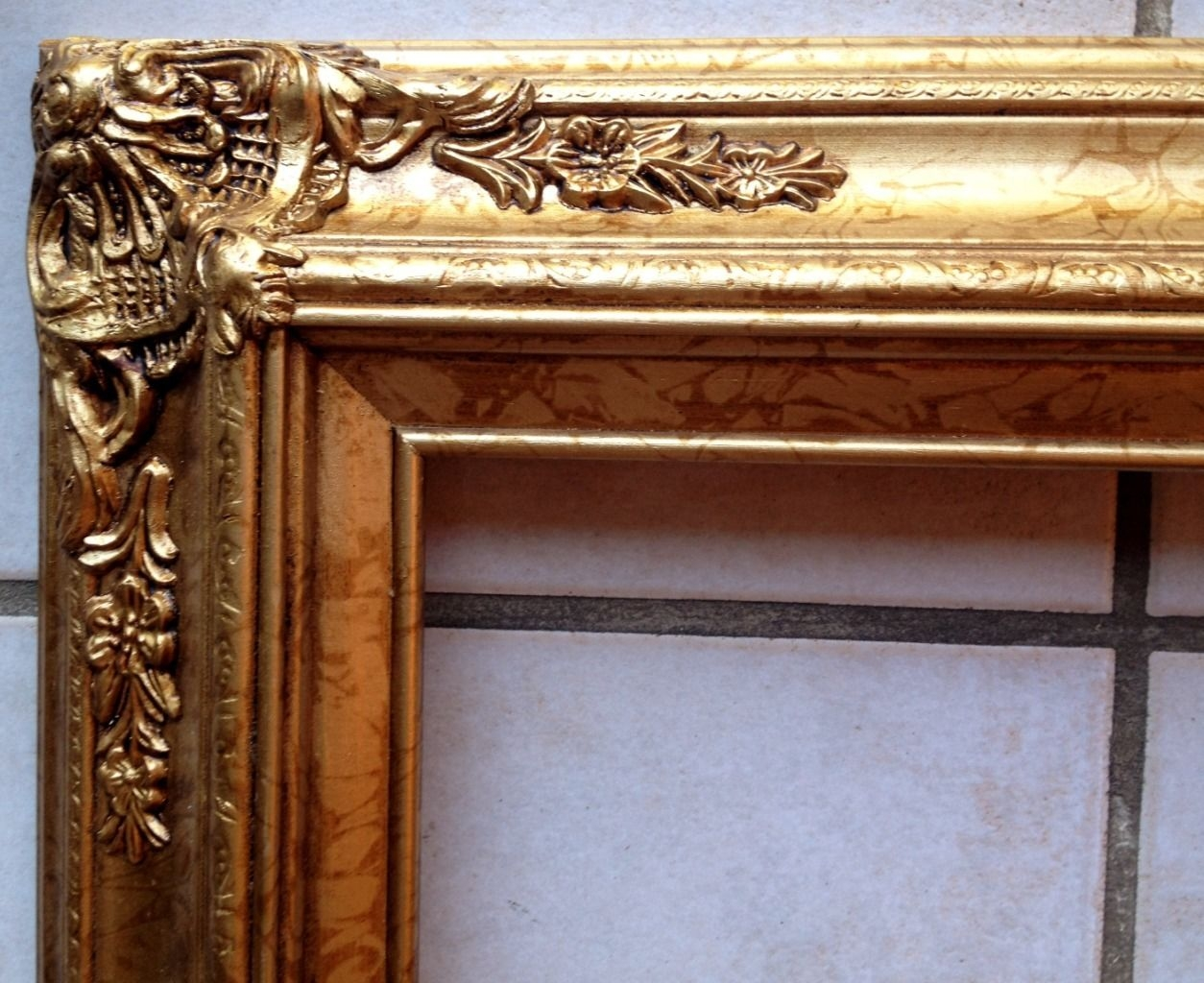 Large Superb Picture Frame For A Painting A Mirror 24 X 36 Ornate Intended For Large Gold Ornate Mirror (Image 13 of 15)