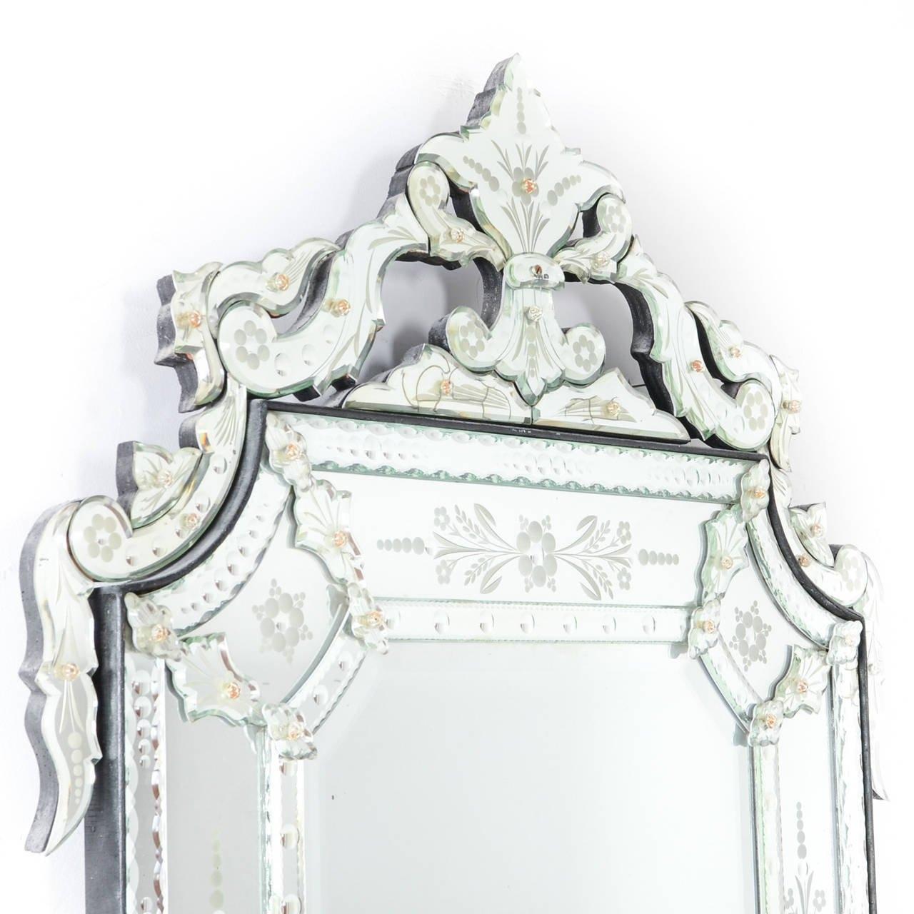 Large Venetian Mirror At 1stdibs Throughout Venetian Mirror Large (Image 10 of 15)