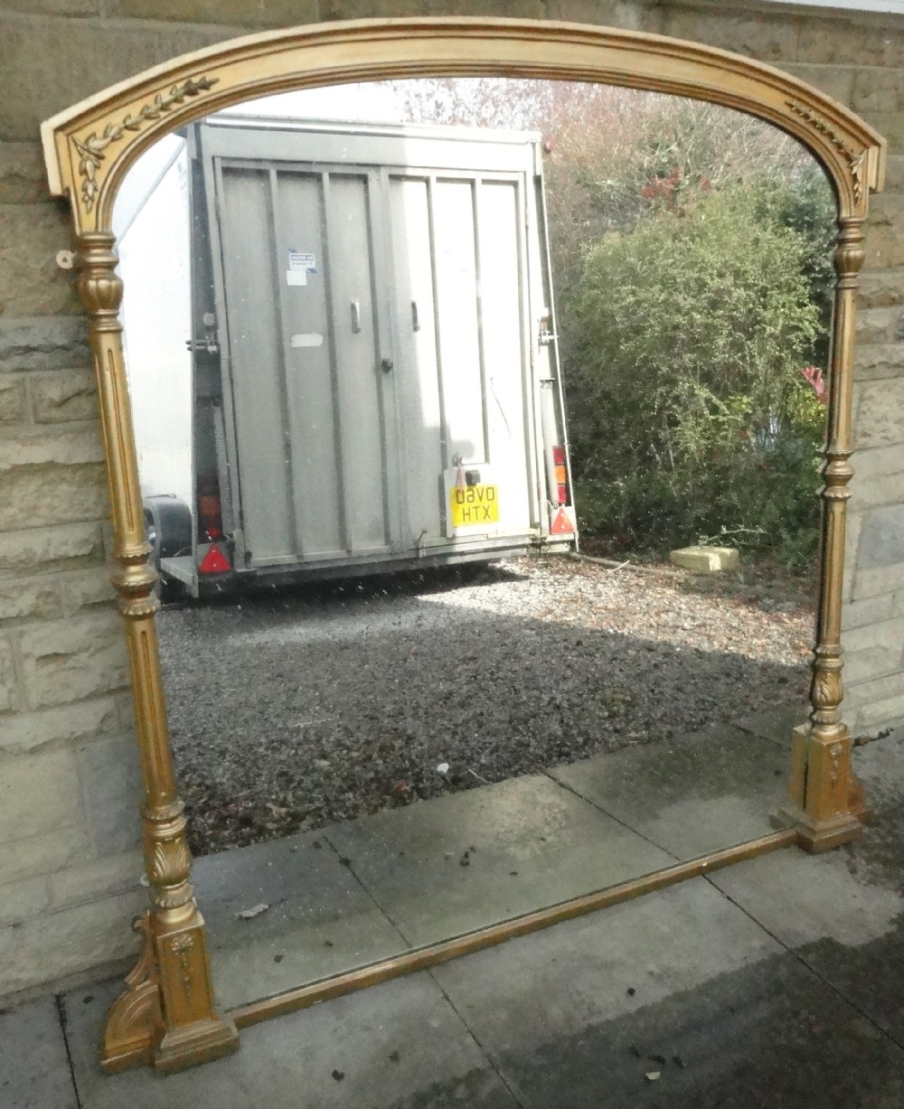 Large Victorian Gilt Overmantle Mirror 271899 Sellingantiques Intended For Large Overmantle Mirrors (Image 12 of 15)
