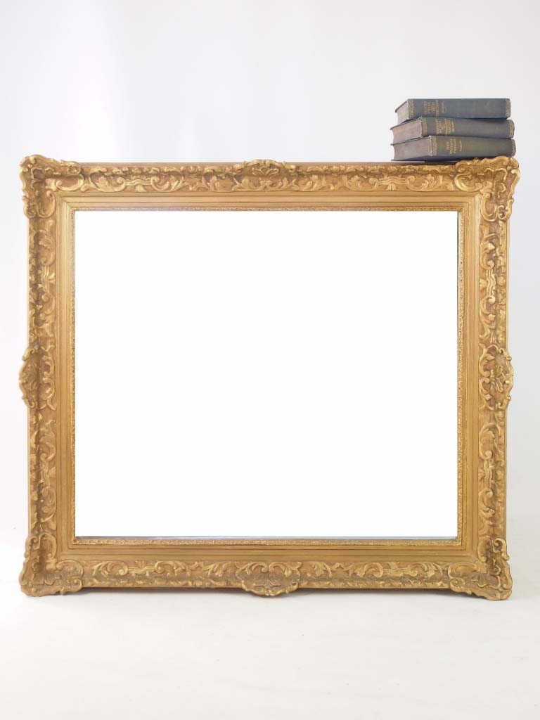 Large Vintage Gilt Framed Mirror Throughout Gilt Framed Mirror (Image 11 of 15)
