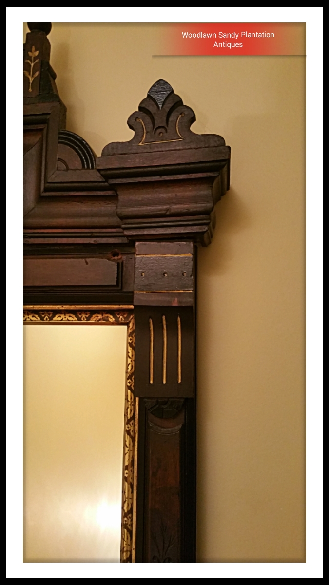 Large Walnut Victorian Eastlake Carved Mirror For Sale For Large Antique Mirror For Sale (Image 14 of 15)