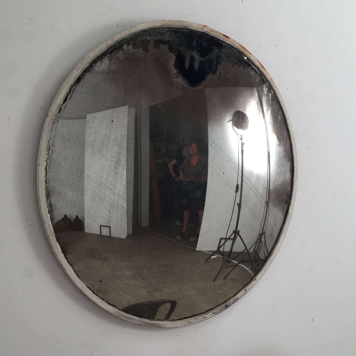 Large White Convex Mirror Espace Nord Ouest Within White Convex Mirror (View 9 of 15)