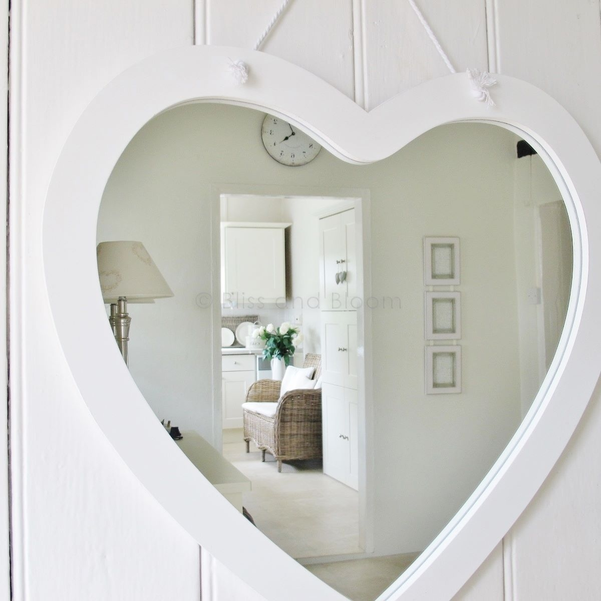 Large White Heart Mirror Bliss And Bloom Ltd Intended For Large Heart Mirror (Image 12 of 15)