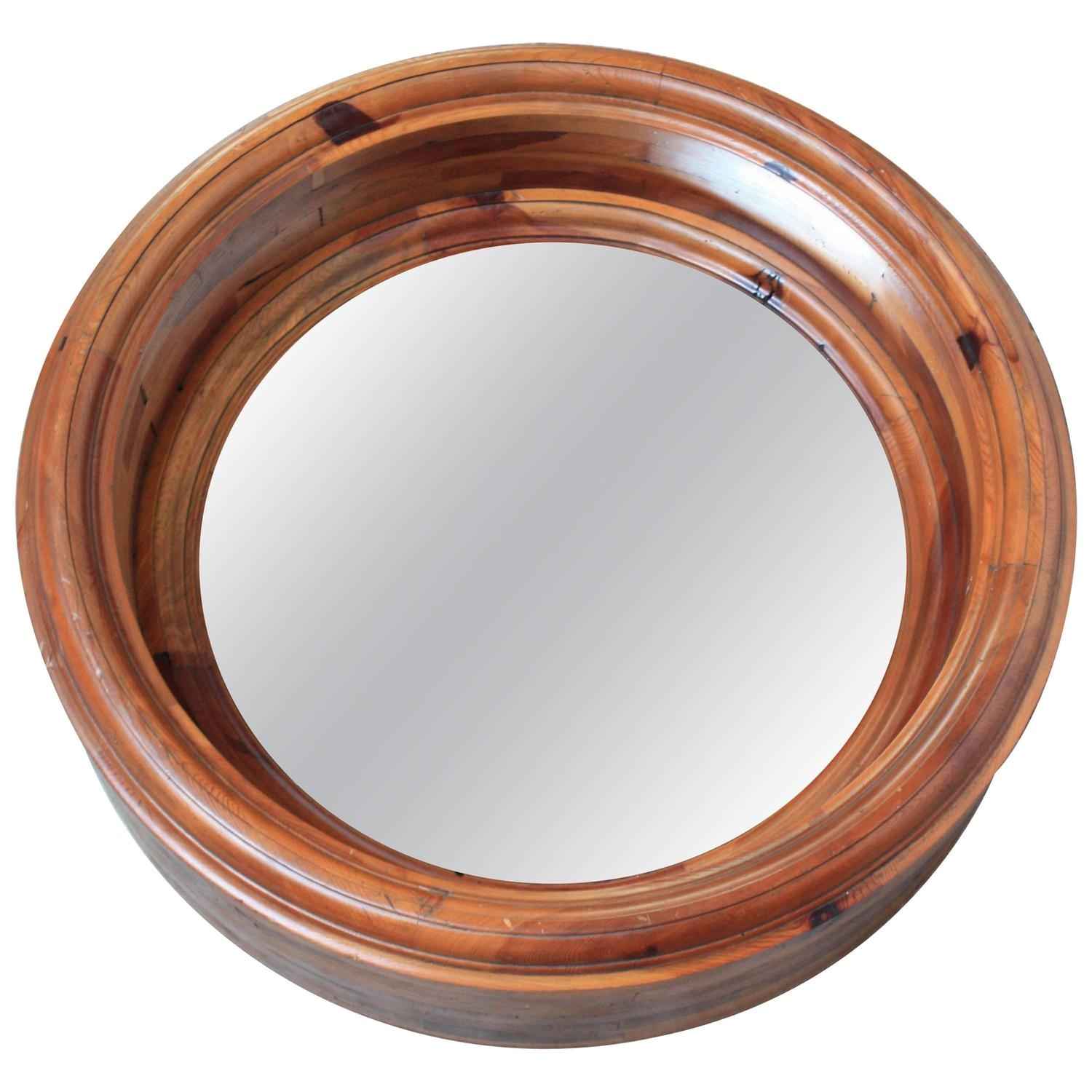 Large Wooden Porthole Mirror Ralph Lauren For Sale At 1stdibs Within Porthole Style Mirror (Image 9 of 15)