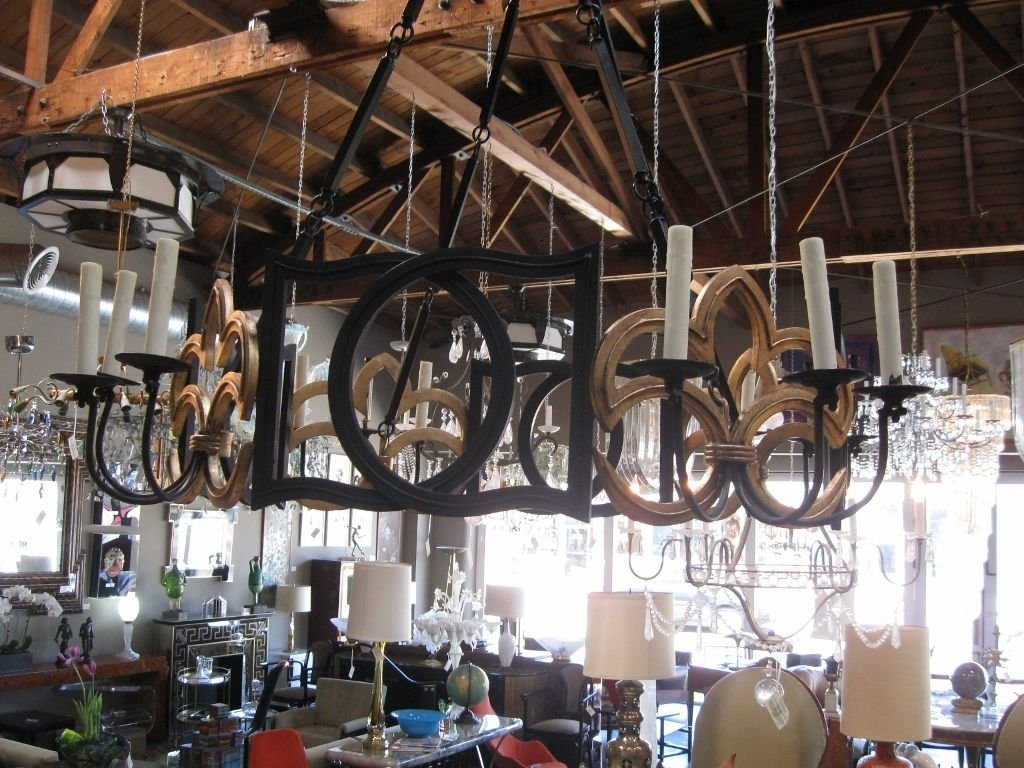 Large Wrought Iron Chandelier At 1stdibs Inside Wrought Iron Chandeliers (Image 9 of 15)