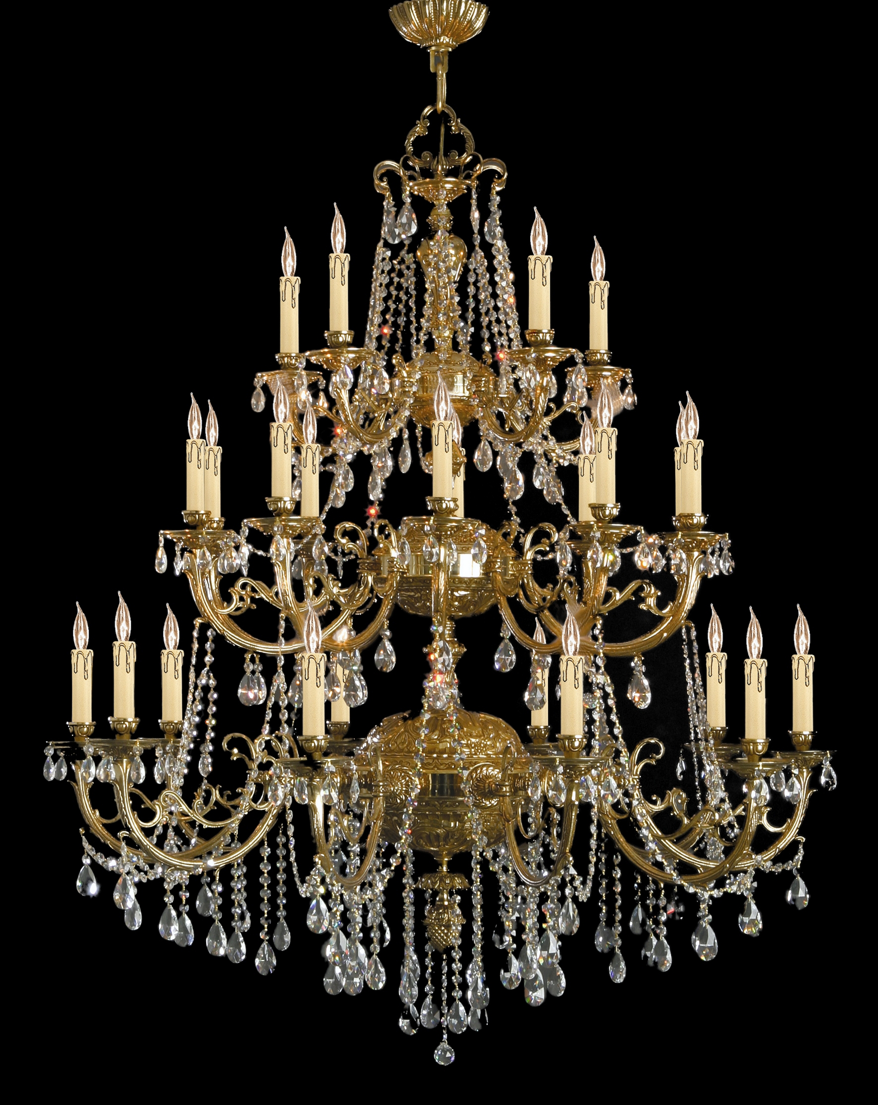 Largelighting Crystal Chandeliers Inside Brass And Crystal Chandeliers (Image 12 of 15)