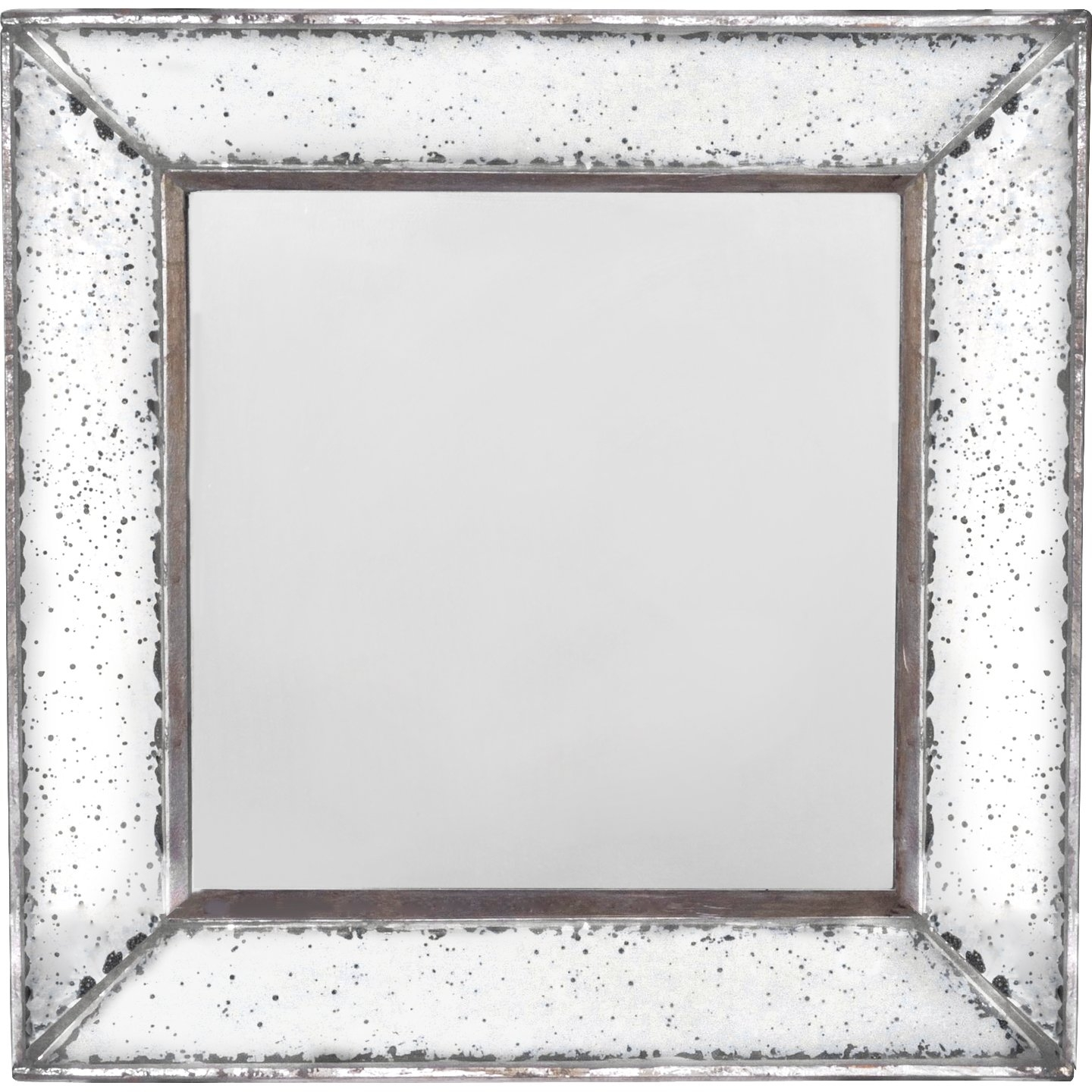 Lark Manor Traditional Square Glass Wall Mirror Reviews Wayfair Throughout Square Wall Mirror (Image 10 of 15)