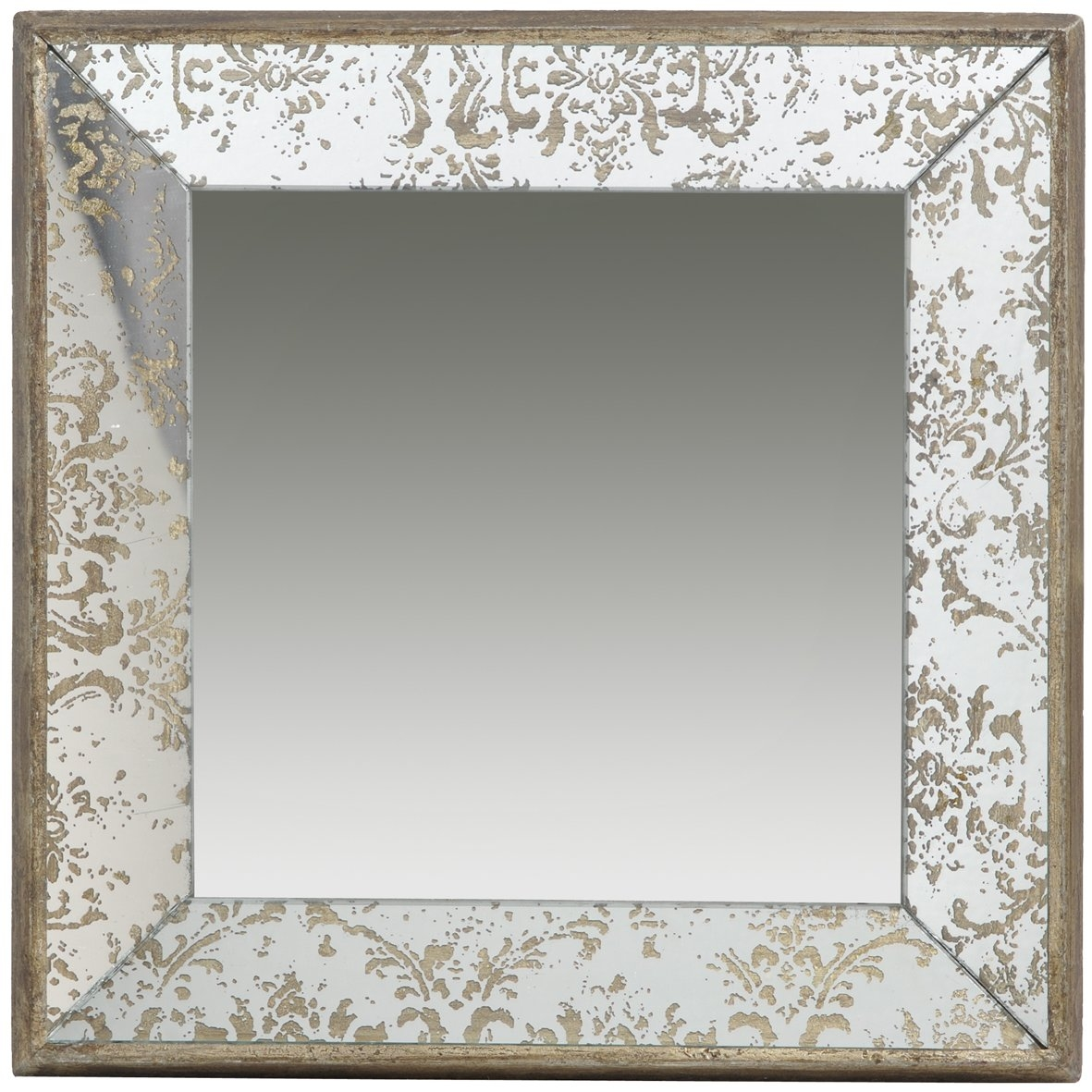Lark Manor Zia Tray Square Wall Mirror Reviews Wayfair Regarding Square Wall Mirror (Image 11 of 15)