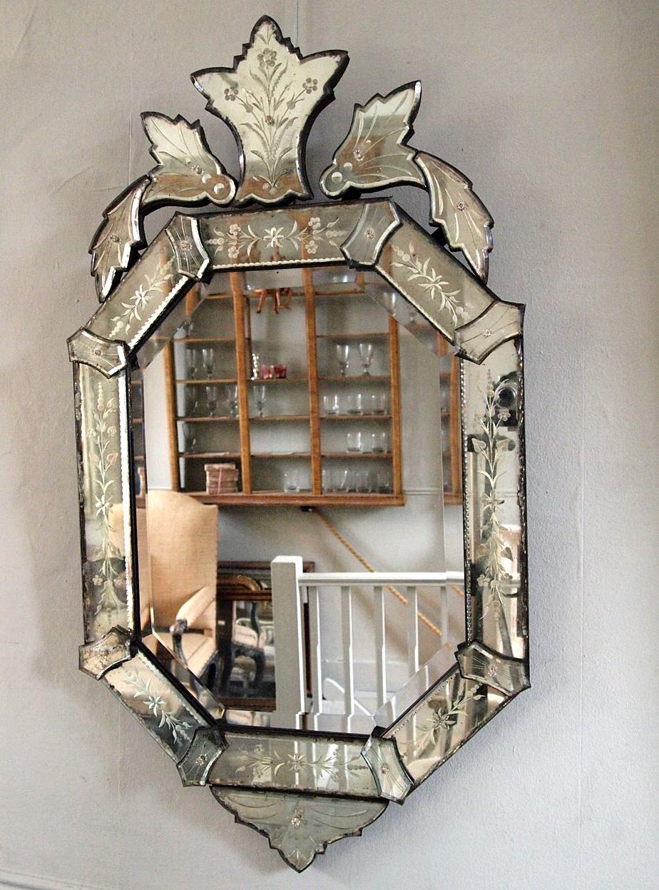 Late 19th Century Venetian Mirror Puckhaber Decorative Antiques Regarding Antique Venetian Mirrors (Image 10 of 15)