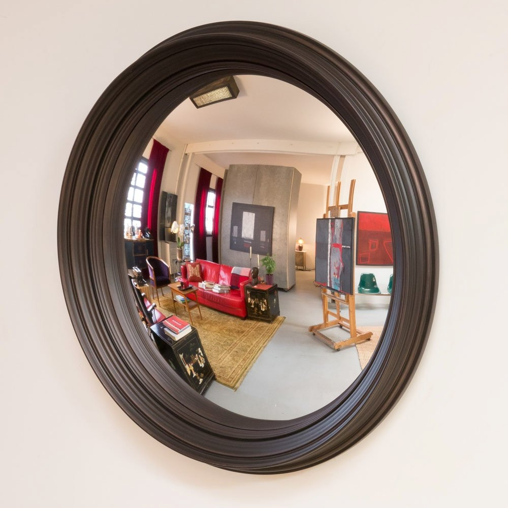 Latitude Run Bizari 40 Decorative Convex Wall Mirror Reviews With Round Convex Mirrors (Image 7 of 15)