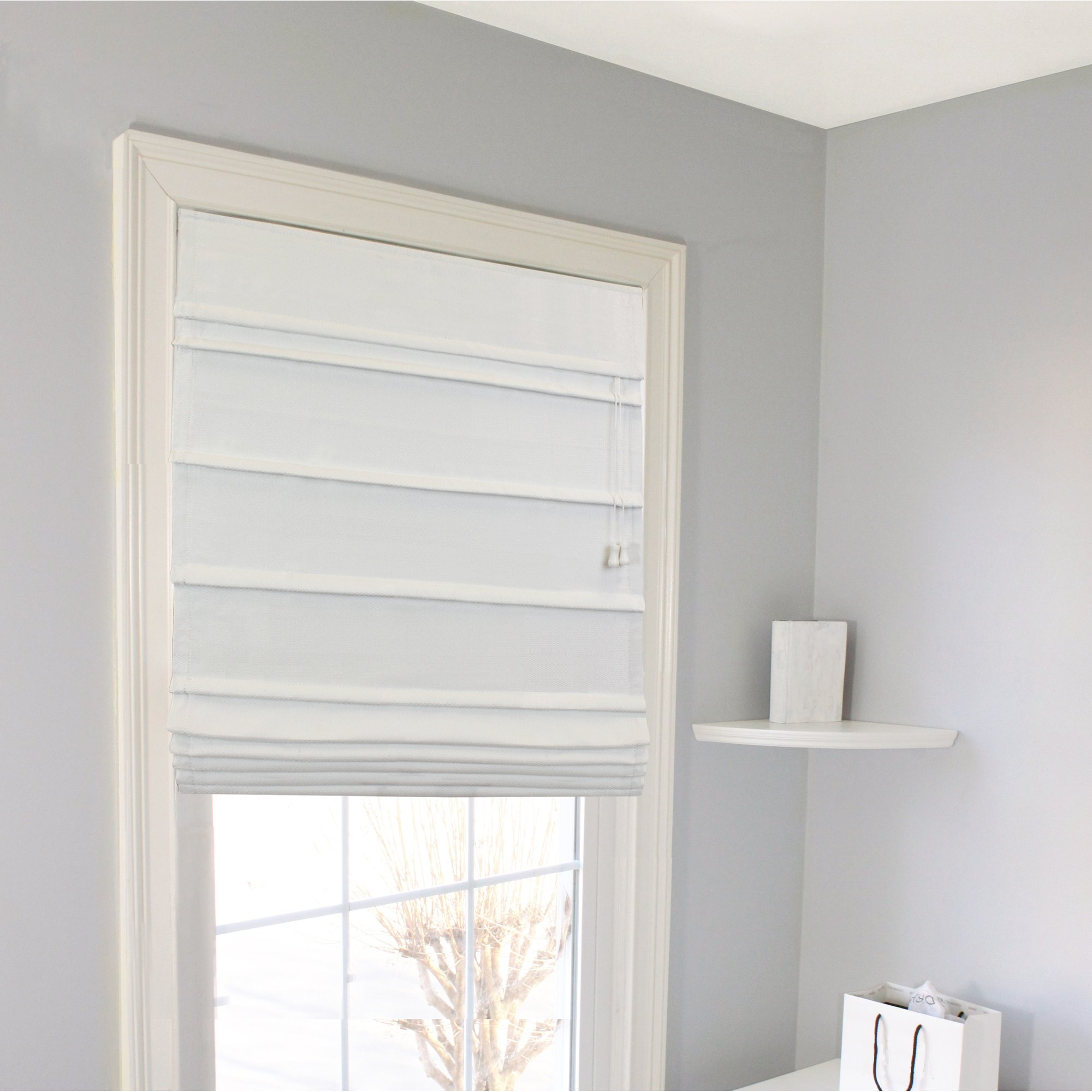 Latitude Run Blackout Thermal Fabric Roman Shade Reviews Wayfair In Blackout Thermal Blinds (Image 7 of 15)