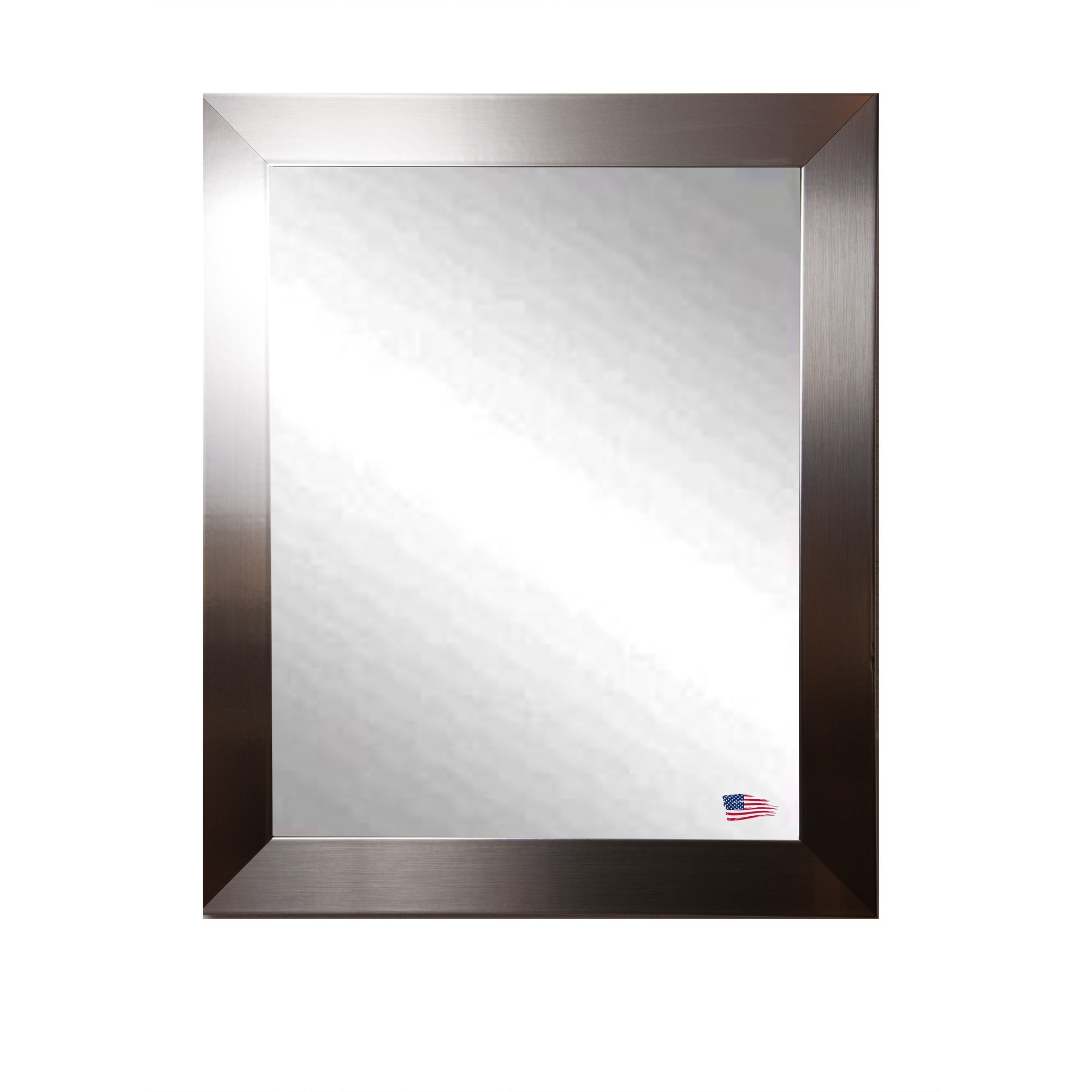 Latitude Run Large Flat Stainless Wall Mirror Reviews Wayfair Pertaining To Large Metal Mirror (Image 11 of 15)