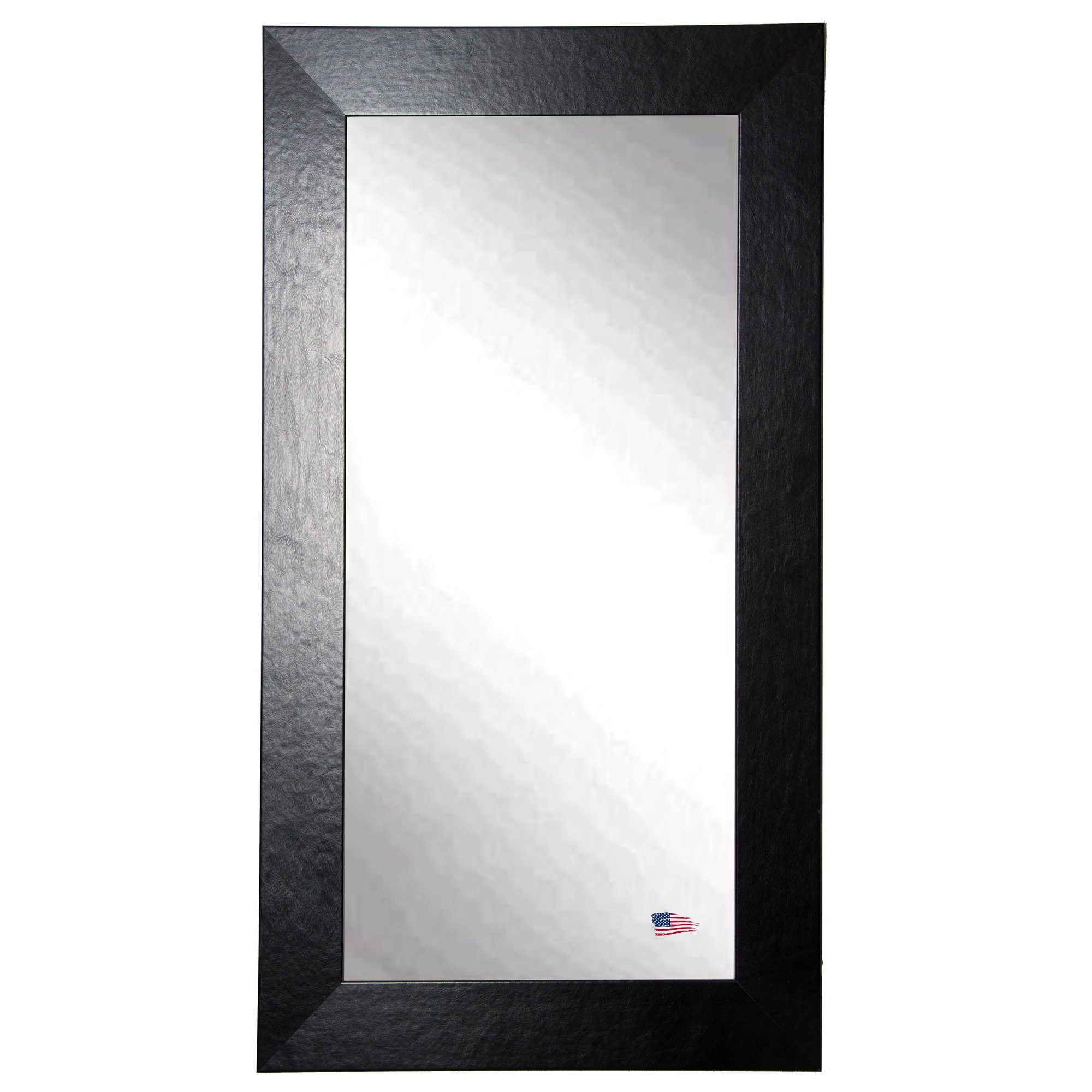 Latitude Run Rectangle Black Wide Leather Wall Mirror Wayfair Regarding Leather Wall Mirror (View 1 of 15)