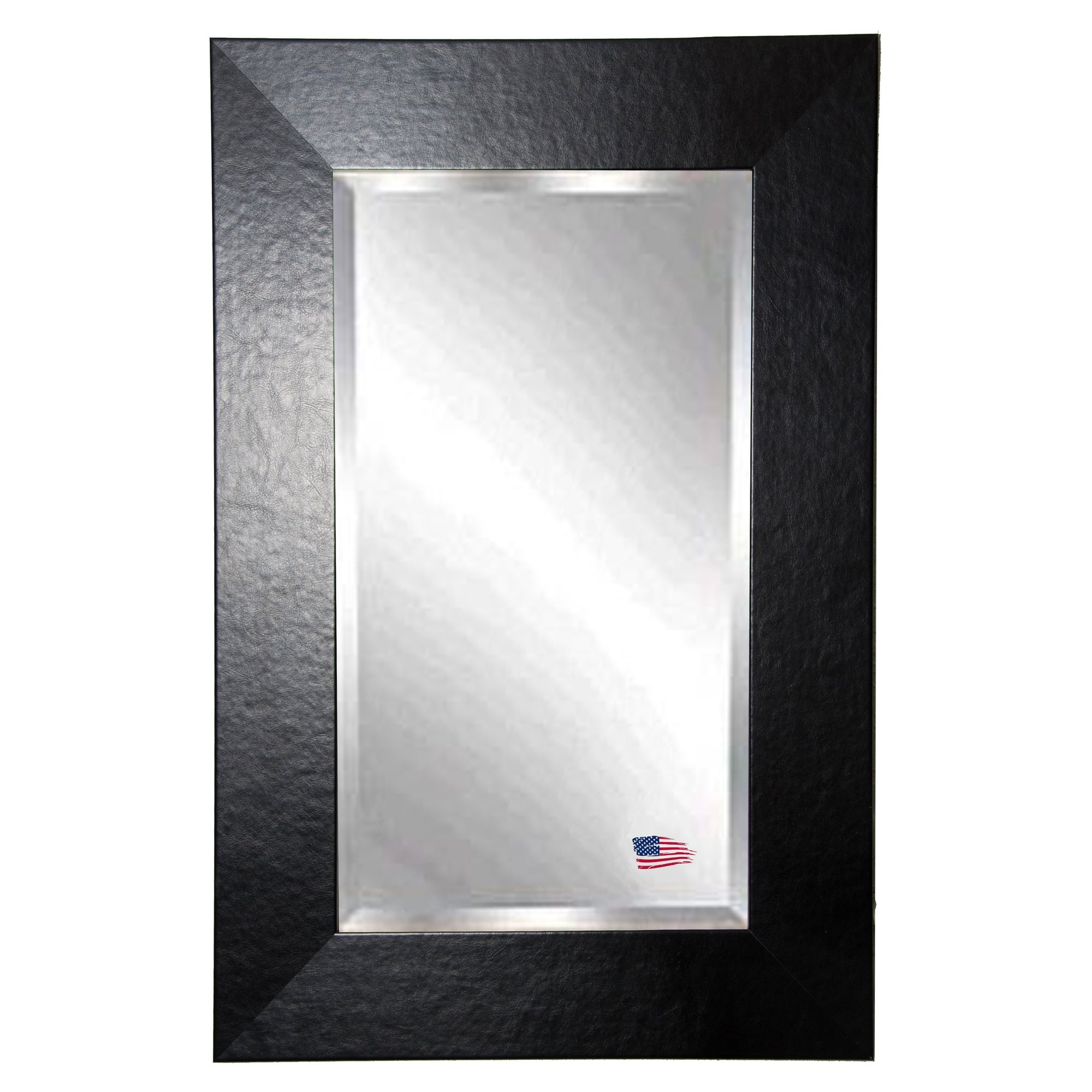 Latitude Run Rectangle Wide Leather Wall Mirror Reviews Wayfair Throughout Leather Wall Mirror (View 9 of 15)