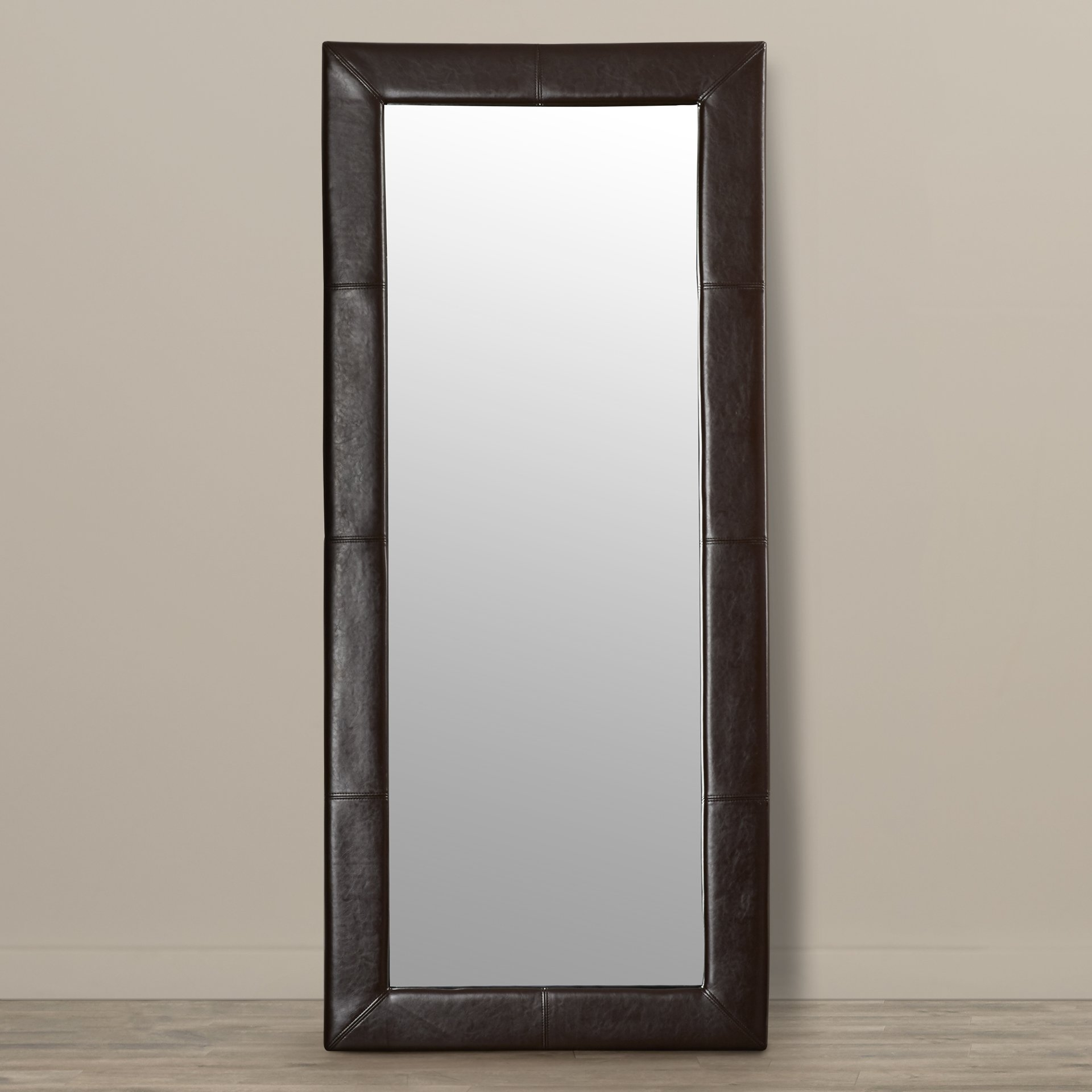 Latitude Run Rectangle Wood Floor Mirror Reviews Wayfair Throughout Victorian Floor Mirror (Image 11 of 15)