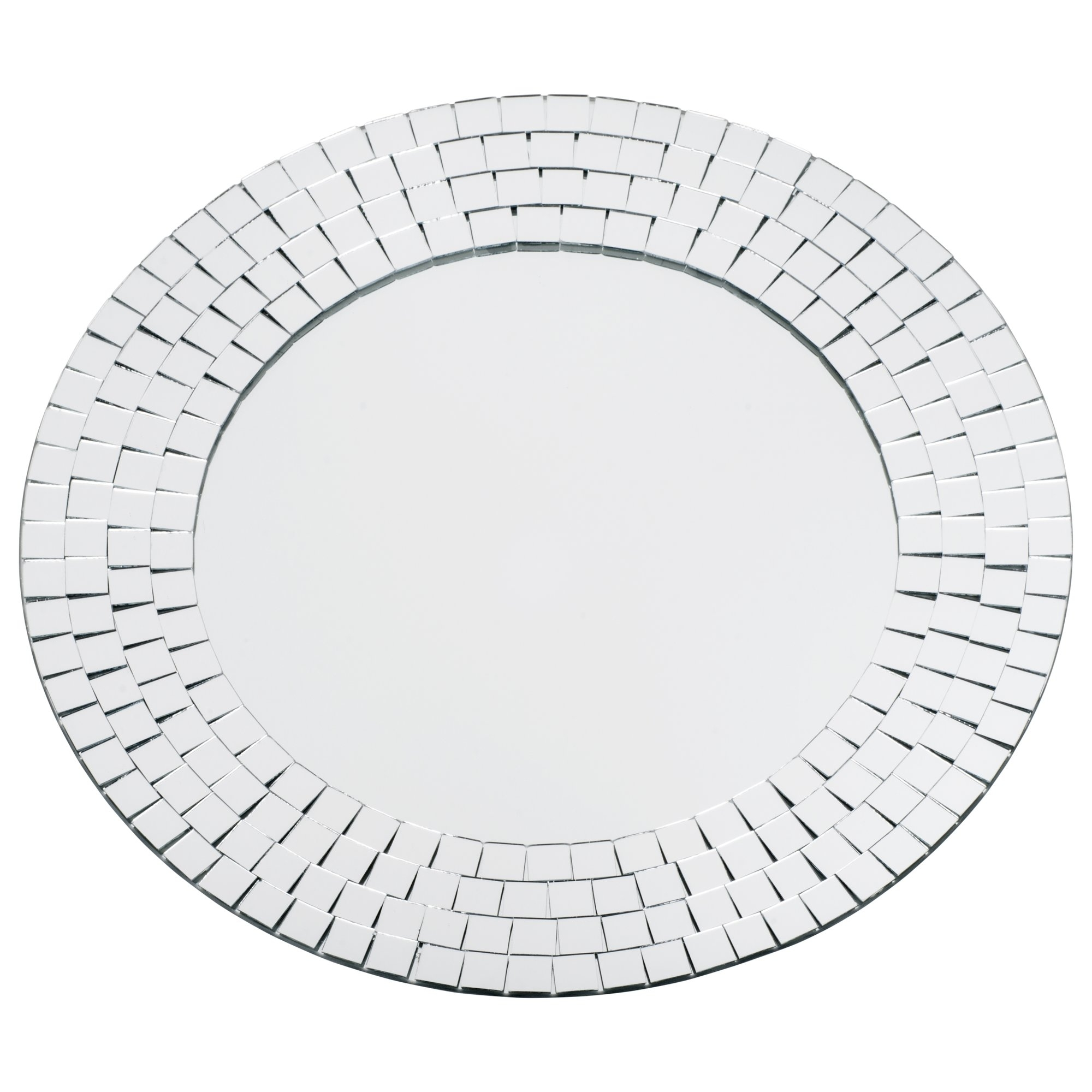 Latitude Run Round Crystals Glass Mosaic Wall Mirror Reviews In Round Mosaic Wall Mirror (Image 7 of 15)