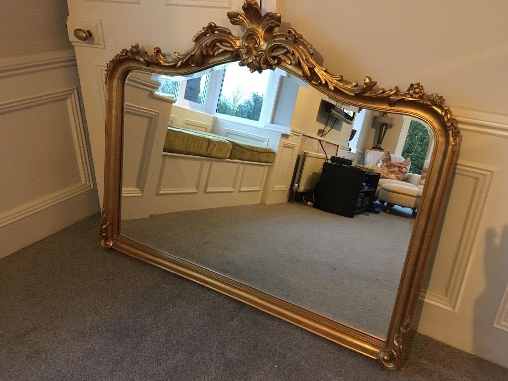 Laura Ashley Gold Patricia Over Mantle Mirror In Dunmow Essex For Gold Mantle Mirror (Image 10 of 15)