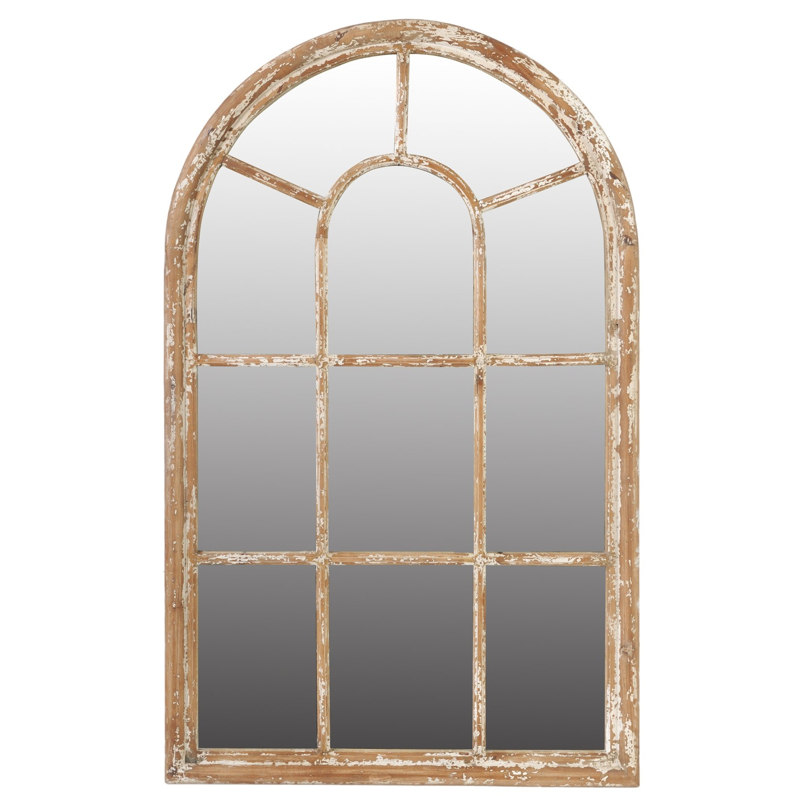 Laurel Foundry Modern Farmhouse Archcrowned Top Wall Mirror With Regard To Window Arch Mirror (Image 12 of 15)