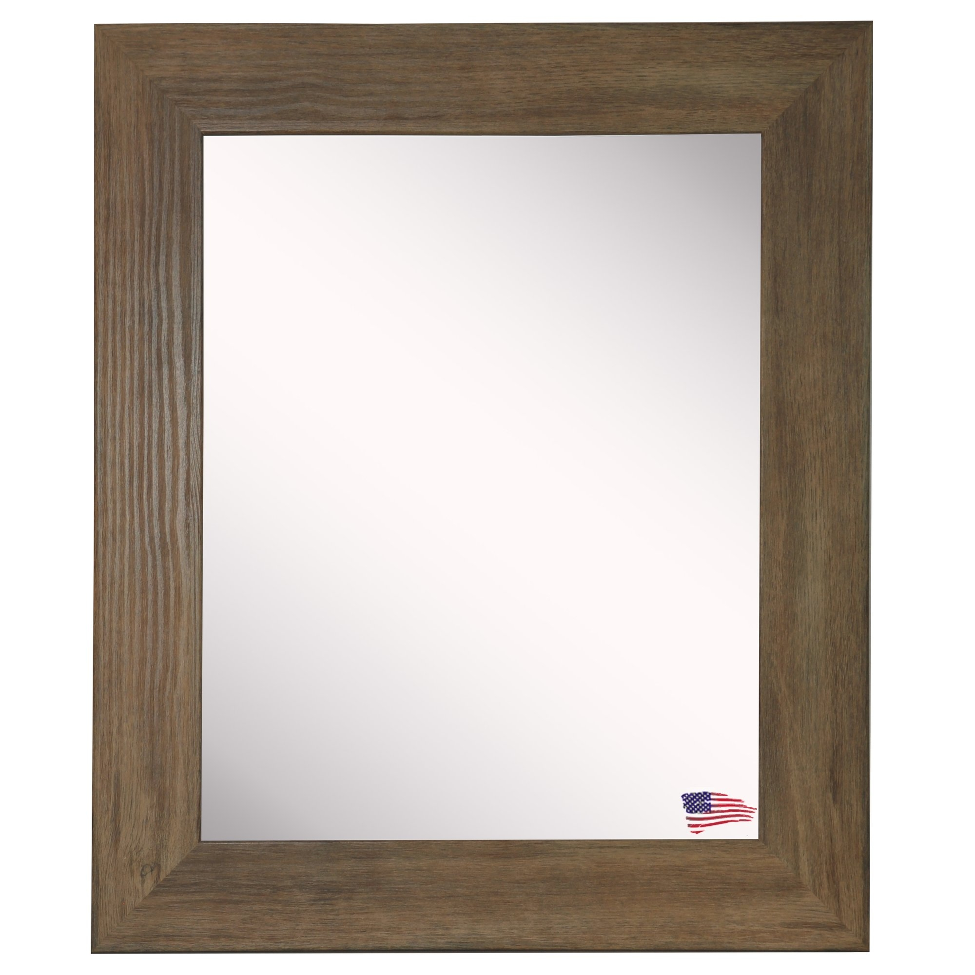 Laurel Foundry Modern Farmhouse Rectangle Brown Barnwood Wall Intended For Landscape Wall Mirror (View 14 of 15)