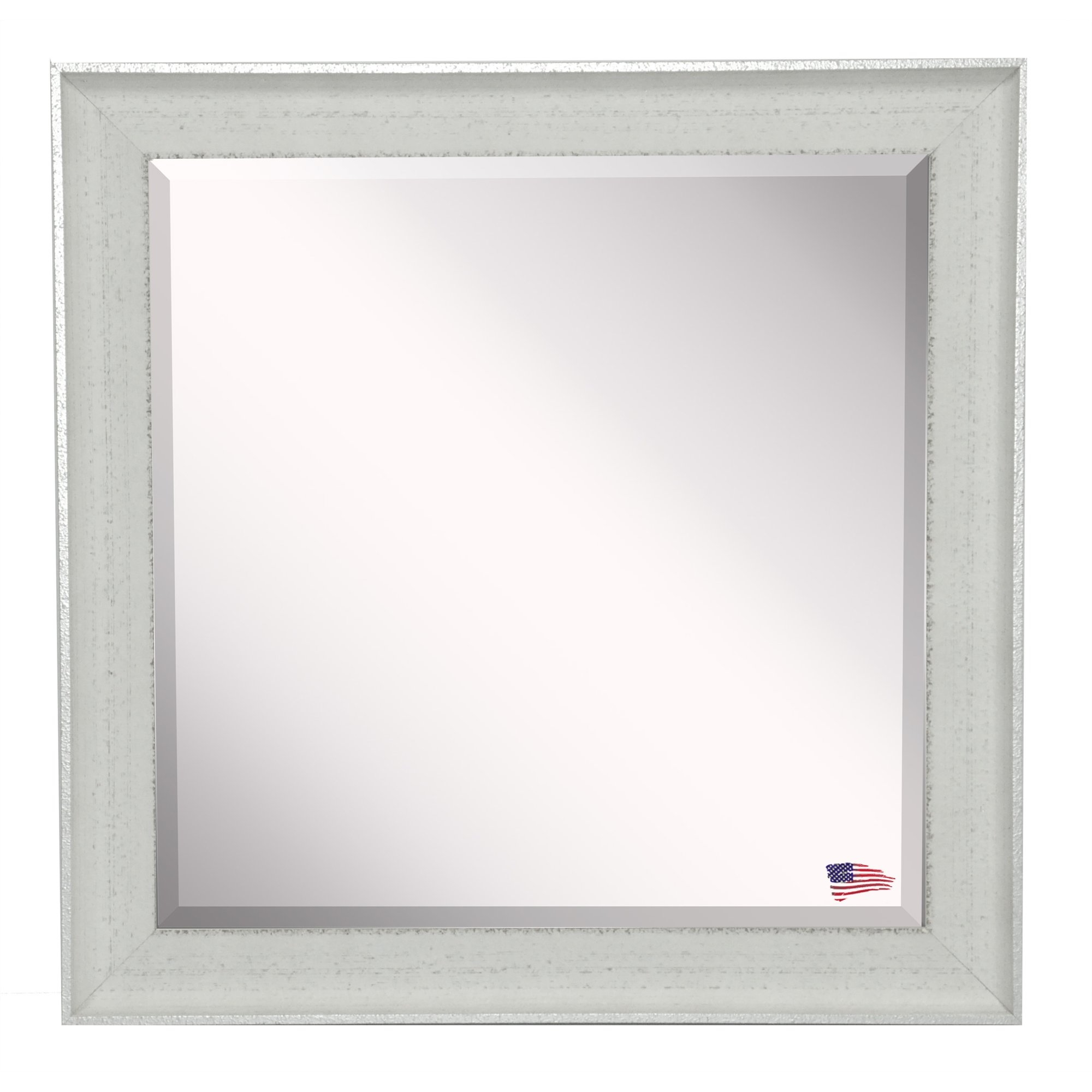 Laurel Foundry Modern Farmhouse Rectangle Vintage White Mirror For Vintage White Mirror (Image 3 of 15)