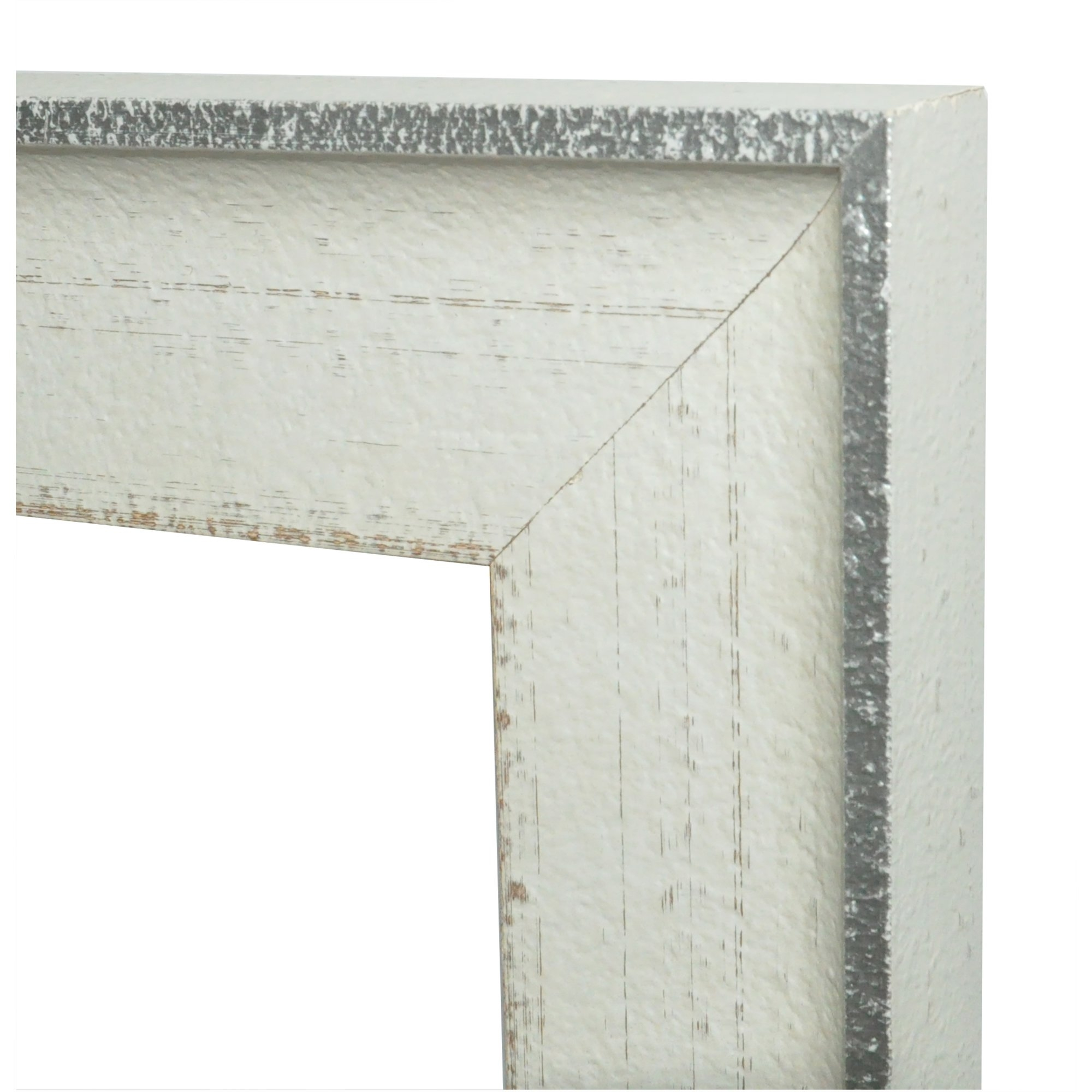 Laurel Foundry Modern Farmhouse Rectangle Vintage White Mirror Within Vintage White Mirror (Image 4 of 15)
