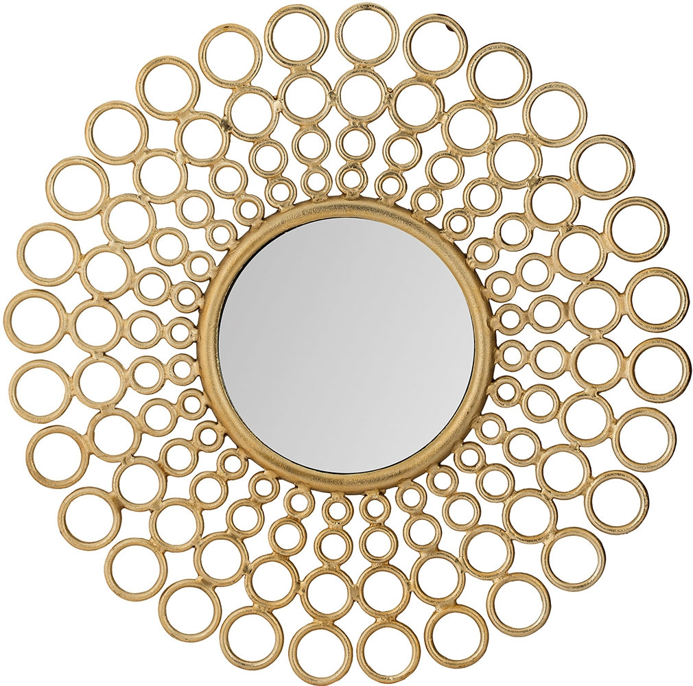 Lazy Susan 8990 017 Modern Gold Cast Ring Mirror Lzs 8990 017 Pertaining To Modern Gold Mirror (Image 8 of 15)