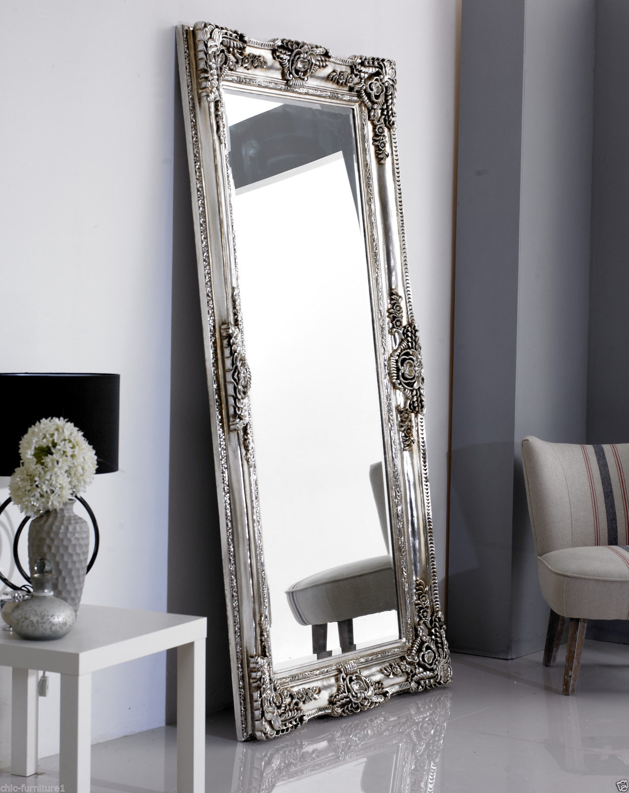 Leaner Mirror Ebay In Large Ornate Wall Mirror (Image 11 of 15)
