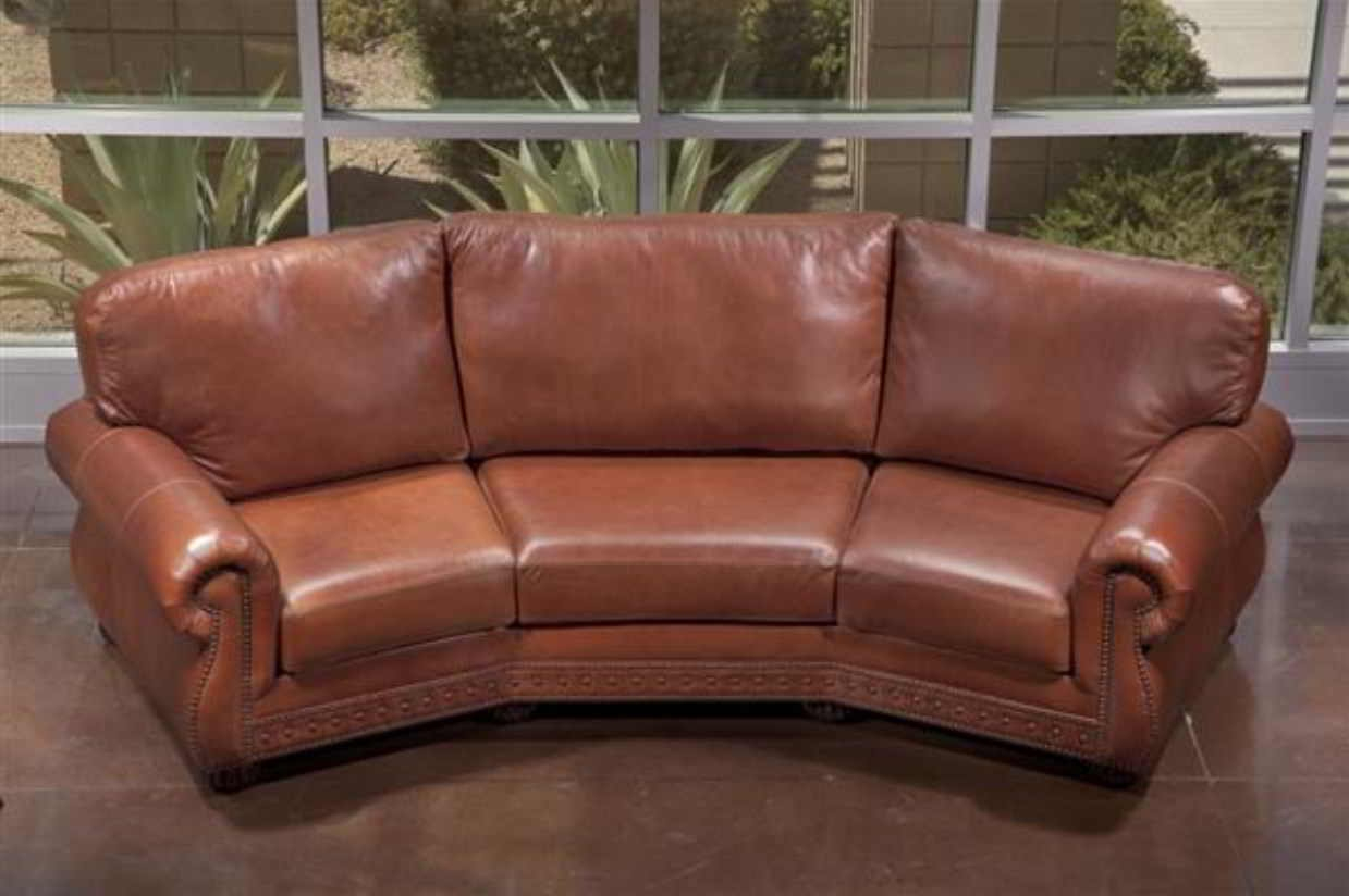 Leather Corner Sofas With Sectional Incredible Home Design In Curved Sectional Sofa With Recliner (Image 9 of 15)