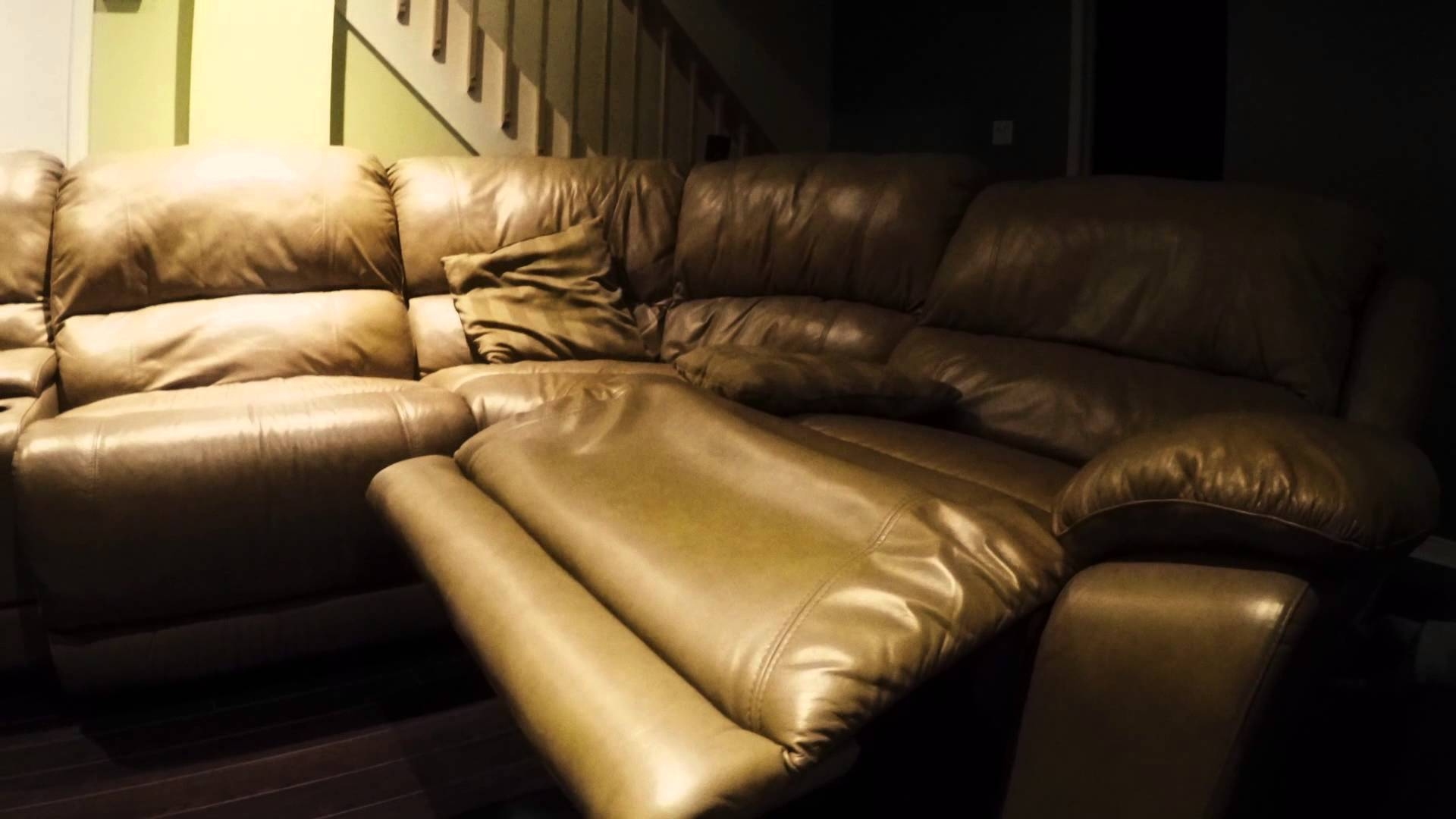 Leather Sofa Cindy Crawford Home Perfect Condition Youtube Pertaining To Cindy Crawford Home Sectional Sofa (Image 11 of 15)