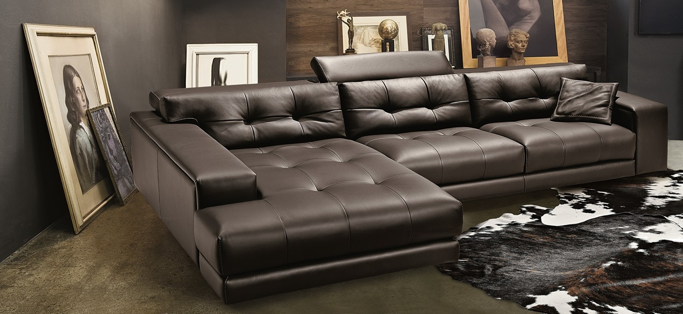 Leather Vs Fabric Modern Sofa Guidesmodern Sofa Guides Regarding Expensive Sectional Sofas (Image 9 of 15)